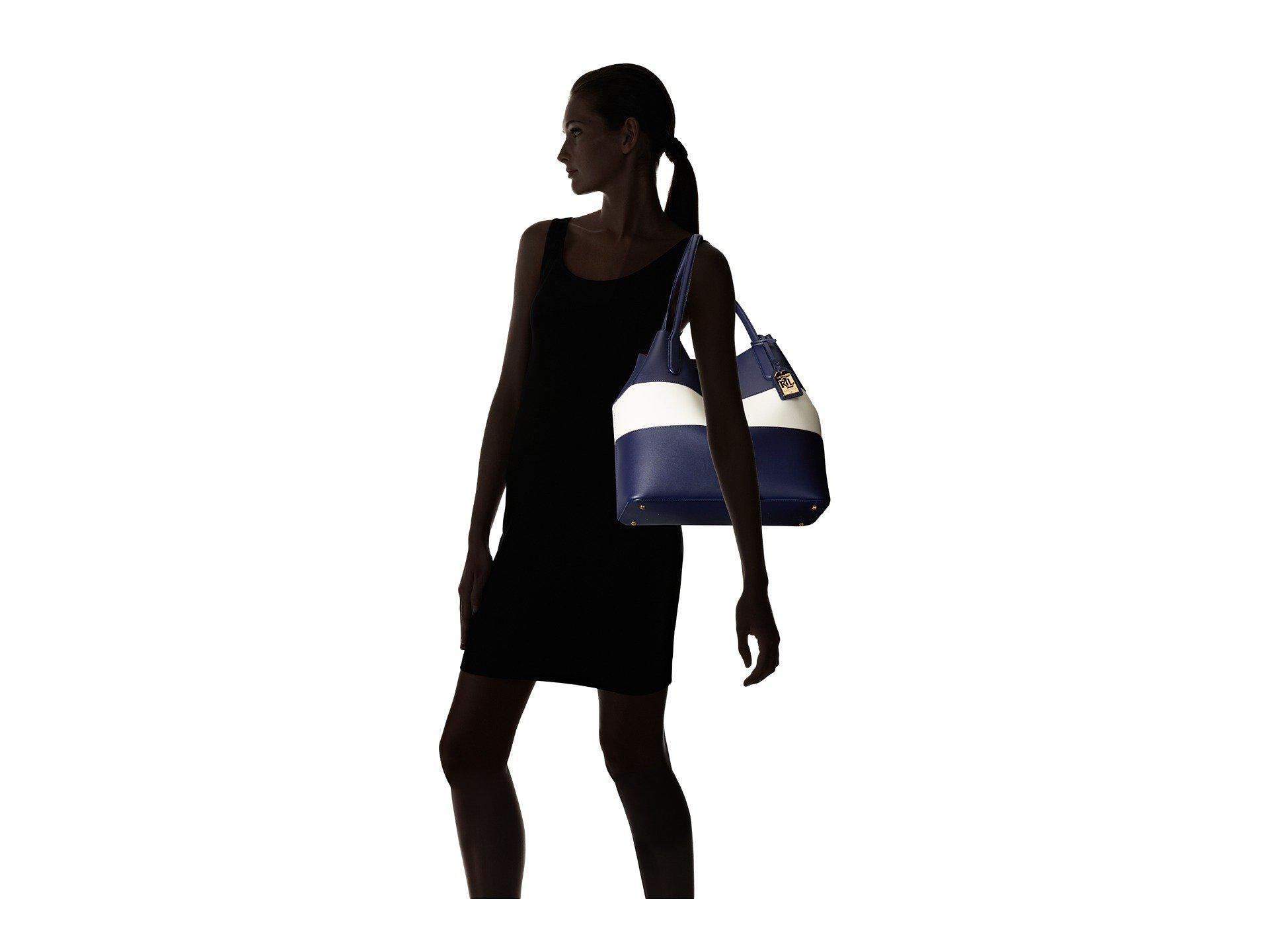 45b986b8da Lyst - Lauren by Ralph Lauren Dryden Diana Tote in Blue