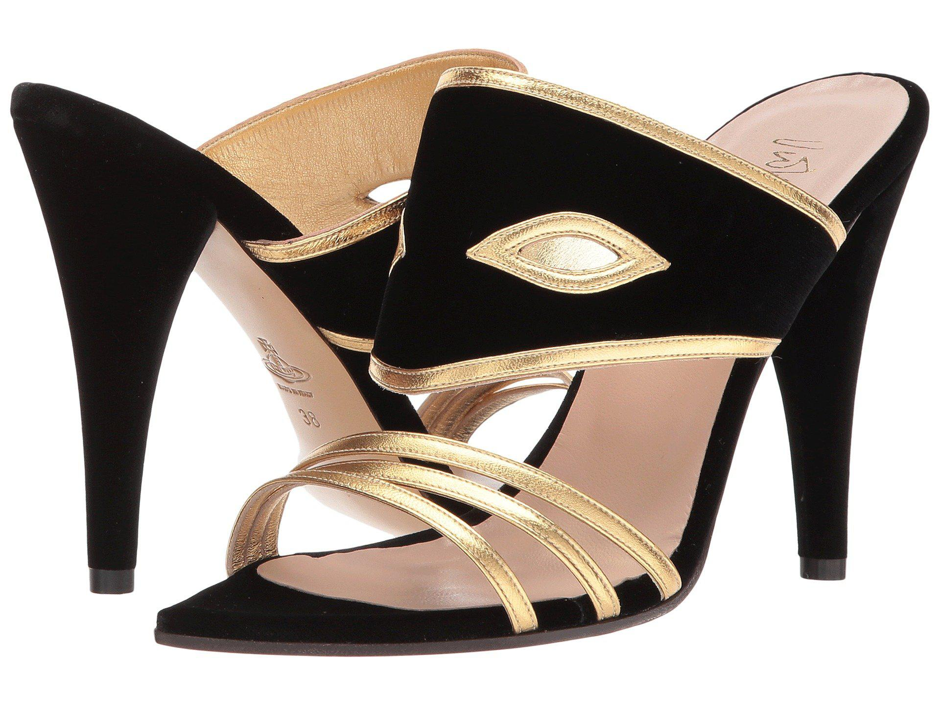 Vivienne Westwood. Women's Black Masque Sandals