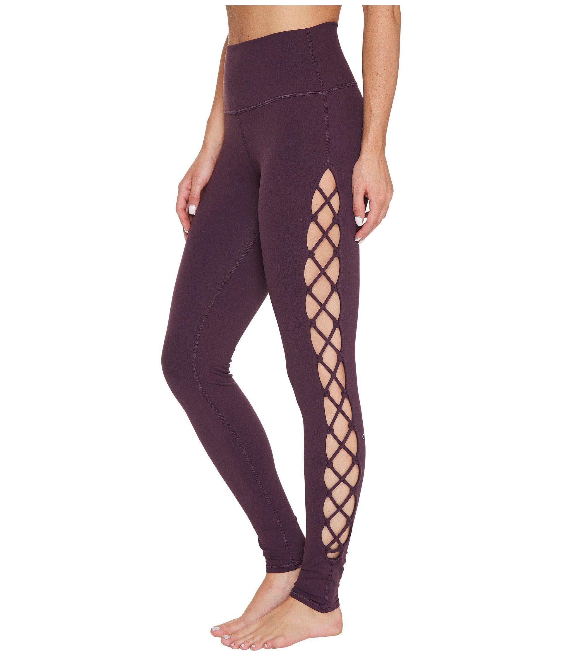 492f287d54 Lyst - Alo Yoga Interlace Leggings in Purple