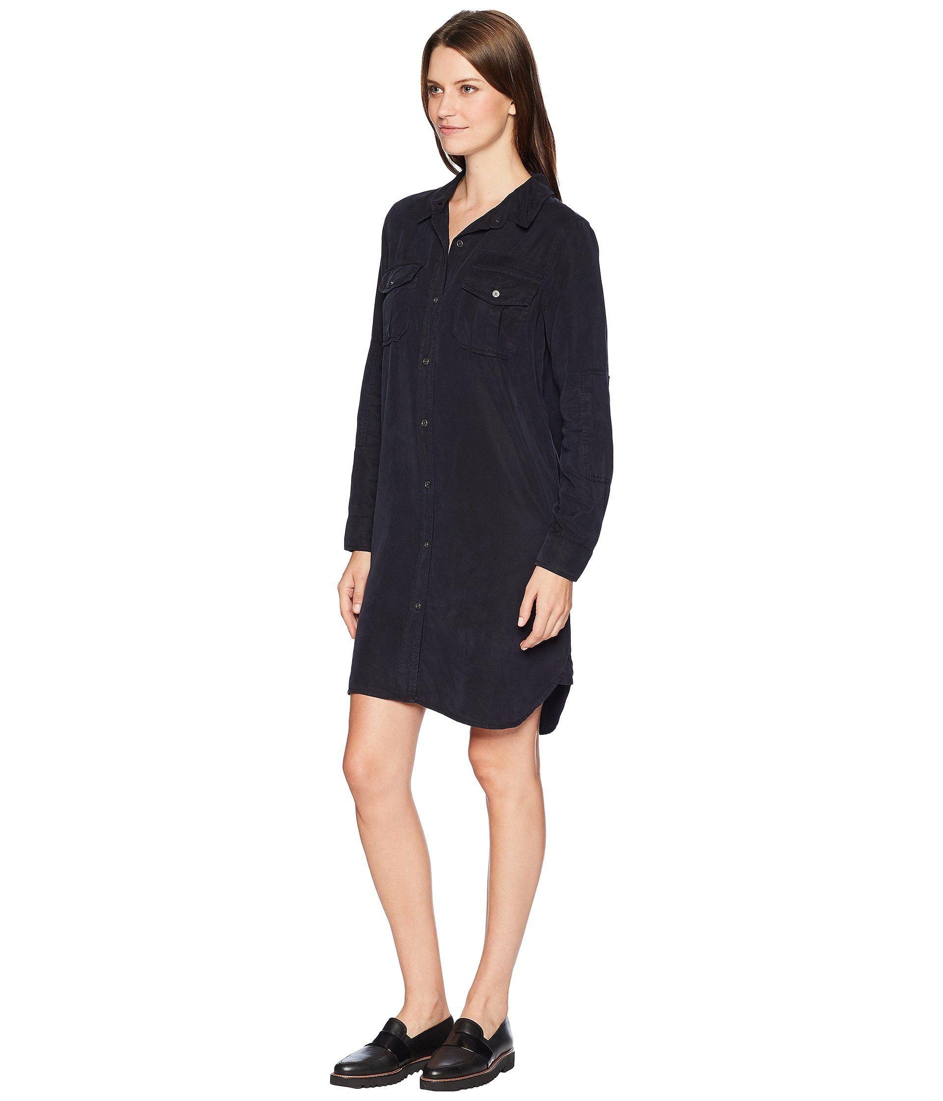8a4c5d6a25 Lyst - Two By Vince Camuto Long Sleeve Lightweight Two-pocket Button Down  Dress in Blue - Save 52%