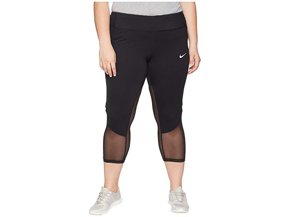 4eb361ca8517a Nike Power Crop Racer Cool (size 1x-3x) (black/black) Workout in ...