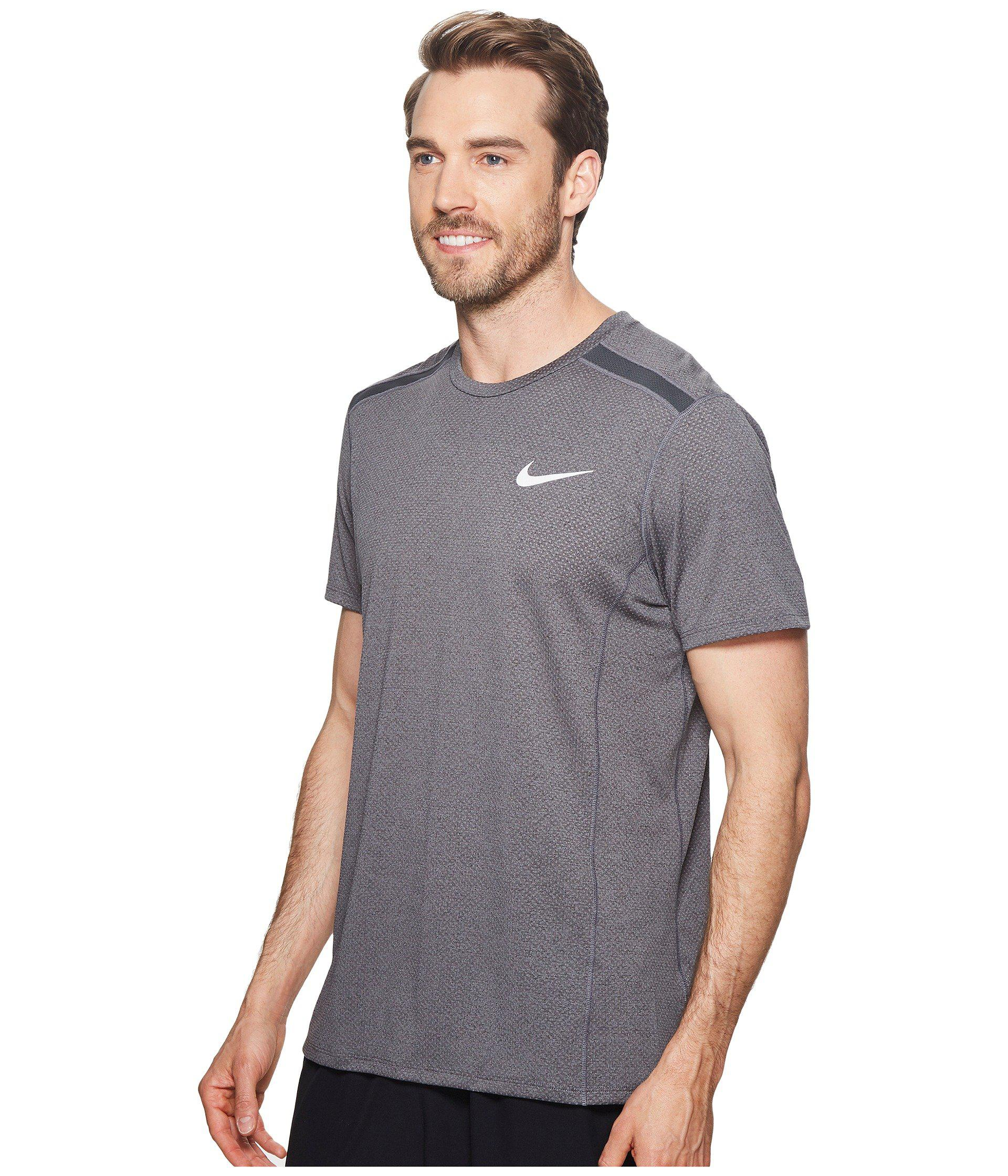 16bdb5c5ab0dc Lyst - Nike Cool Miler Short-sleeve Running Top in Gray for Men - Save 18%