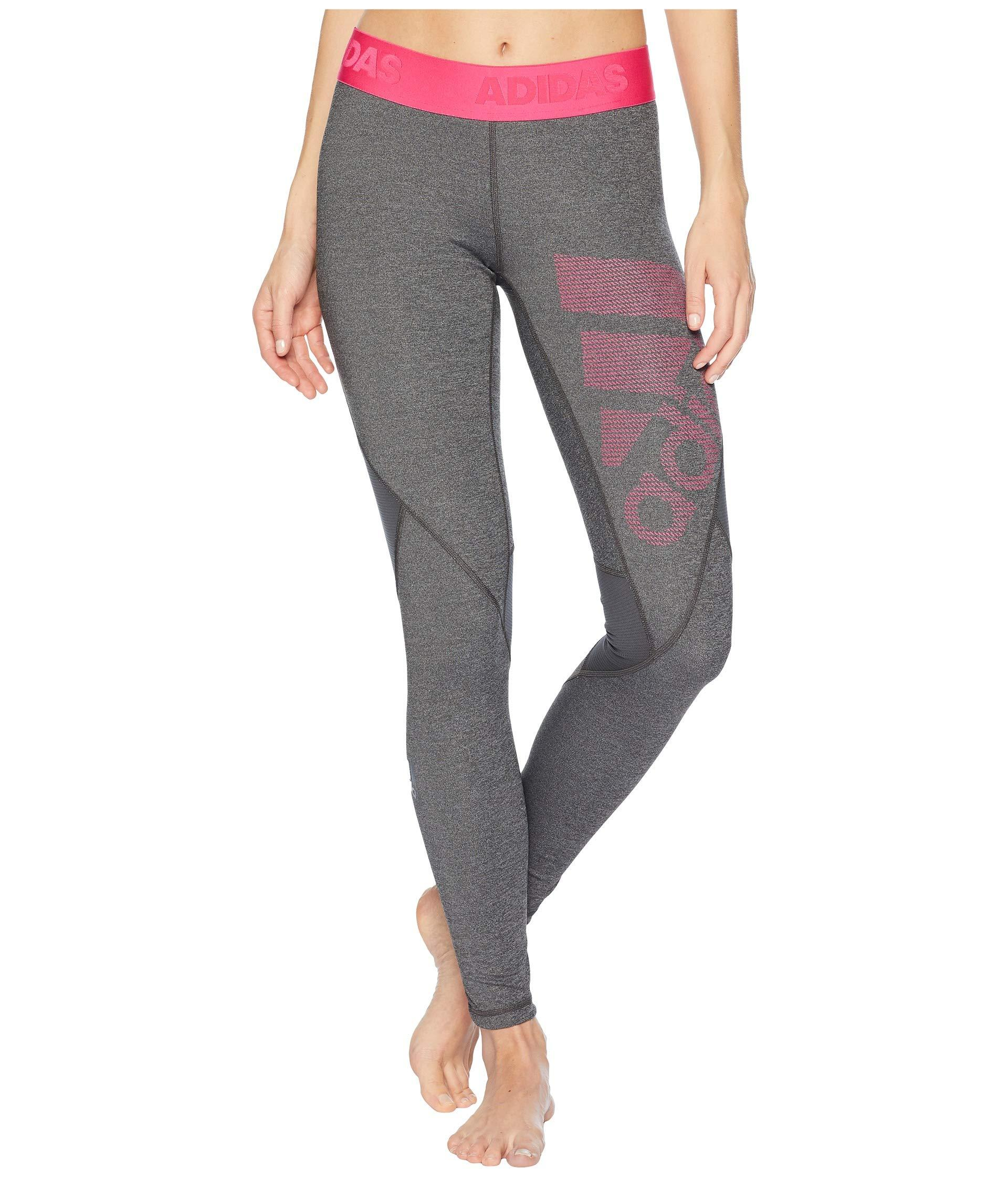fc359ae708f Lyst - Adidas Alphaskin Sport Long Logo Tights in Gray