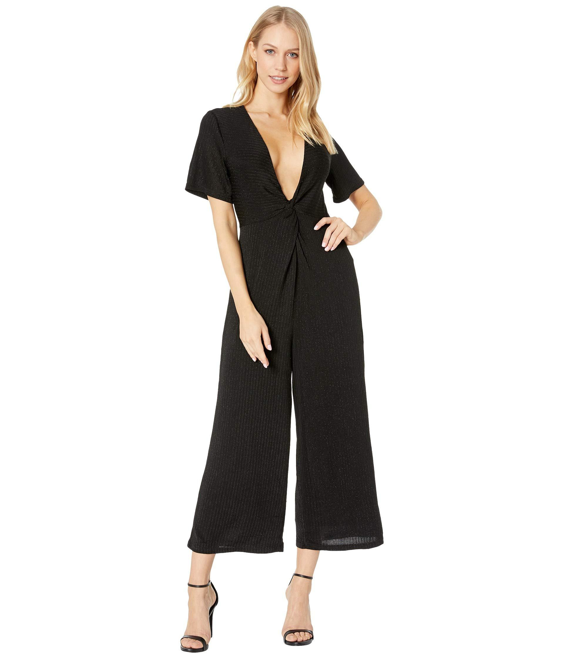 1ce1d5016a7 Lyst - MINKPINK Front Twist Jumpsuit in Black