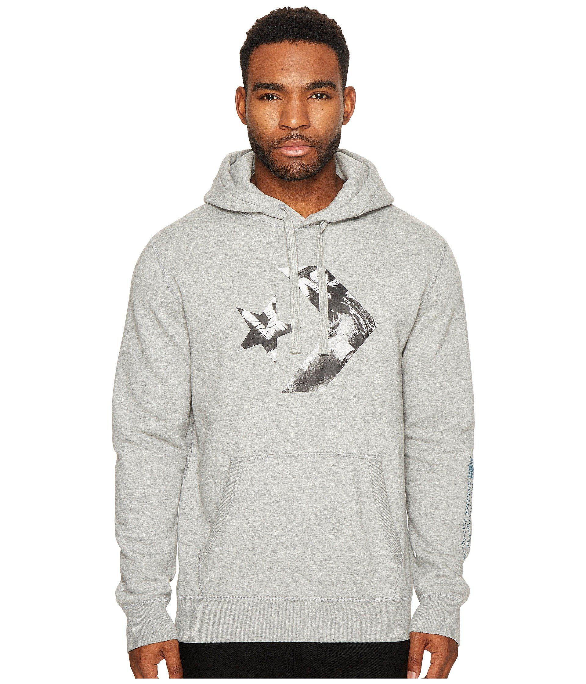 3c9458431099 Lyst - Converse Cons Star Chevron Photo Fill Hoodie in Gray for Men