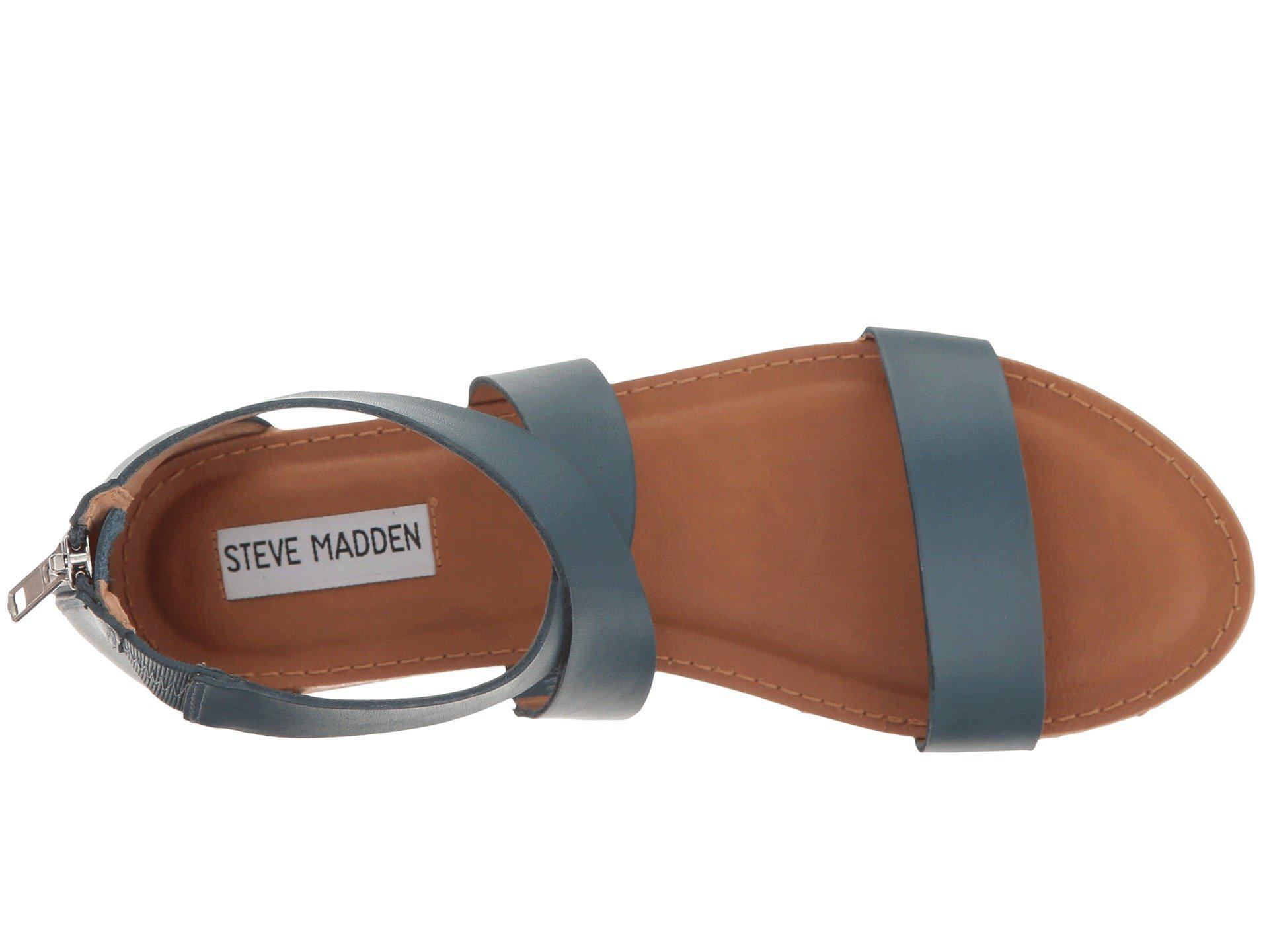 331a6977f886 Lyst - Steve Madden Halley Flat Sandal in Blue