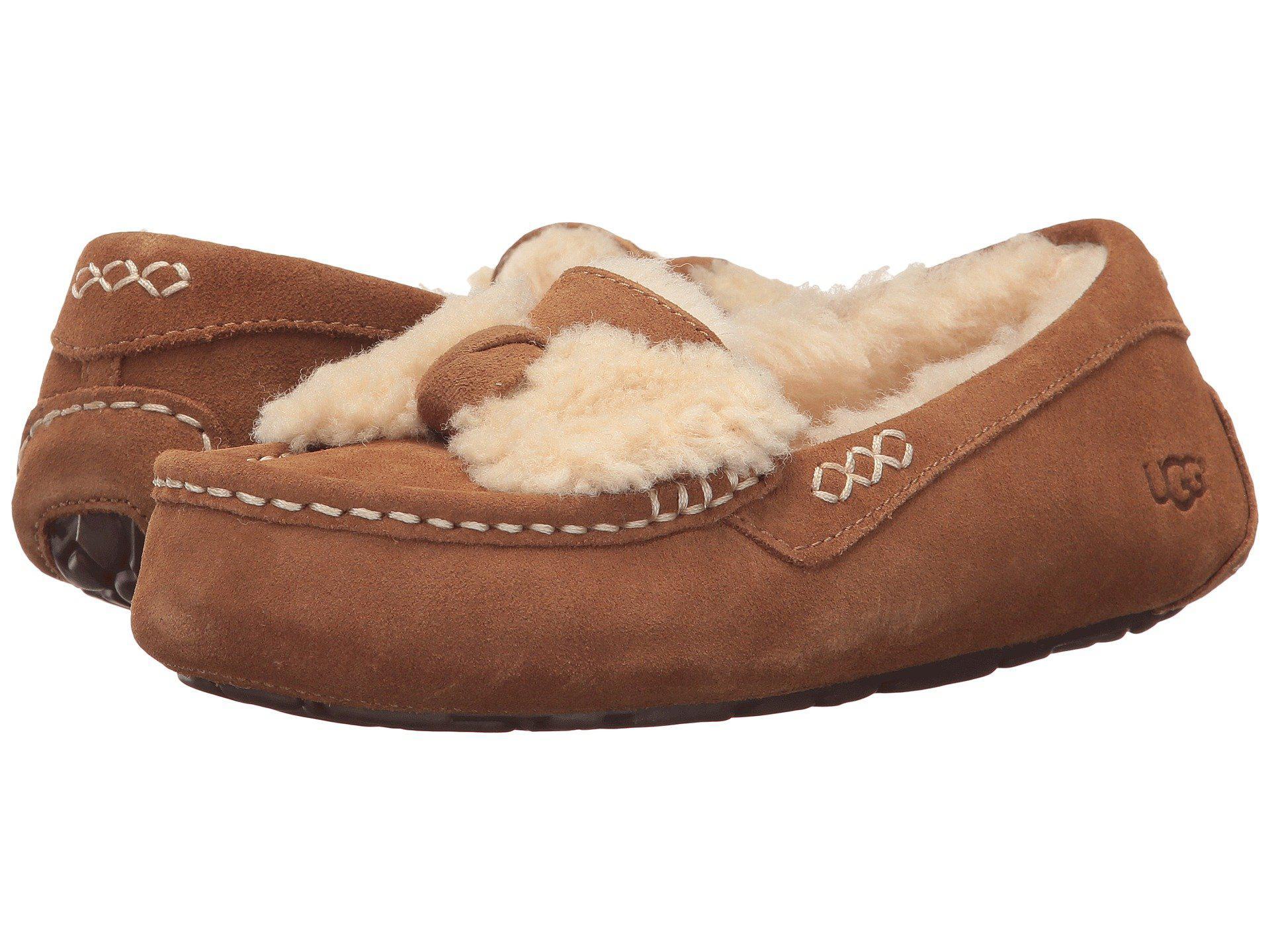 34755e4b743 Ugg Ansley Fur Bow Slippers - Image Skirt and Slipper Imagepv.co