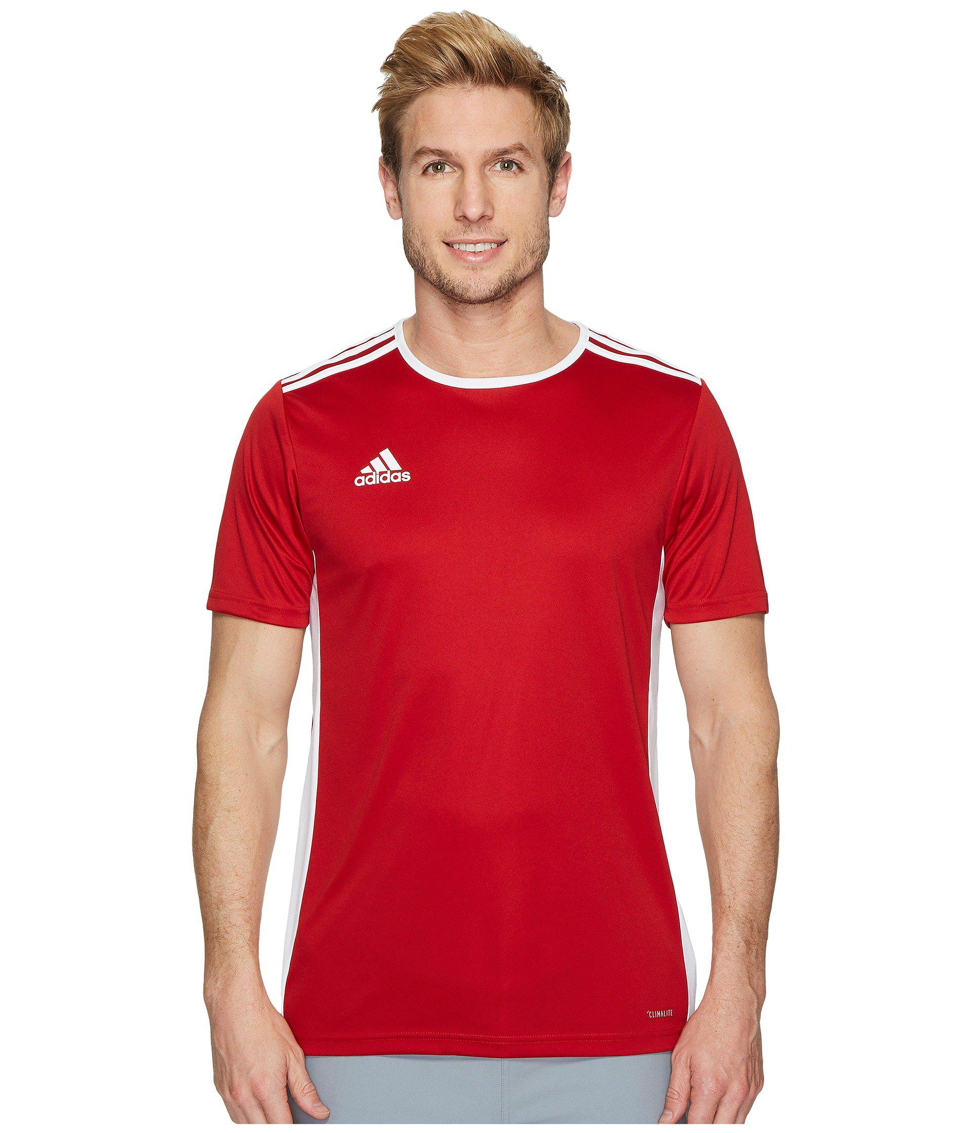 Lyst - adidas Entrada 18 Jersey in Red for Men - Save 16% 5034342c0