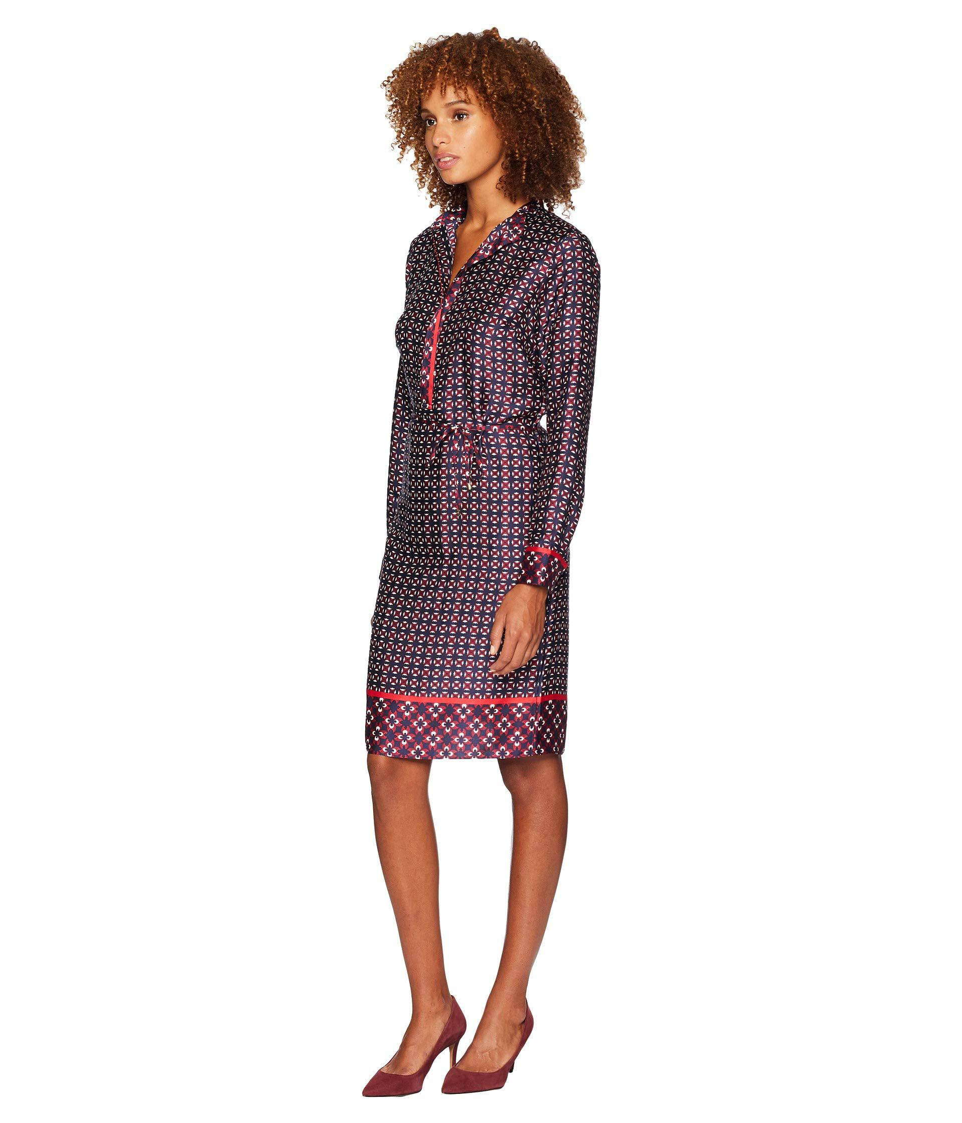 7e72554fbfc Lauren by Ralph Lauren Print Twill Shirtdress in Purple - Lyst