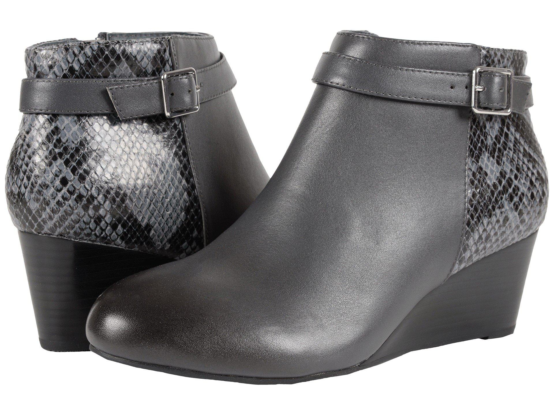 335a17a65c99 Lyst - Vionic Elevated Shasta Wedge Boot in Gray - Save ...