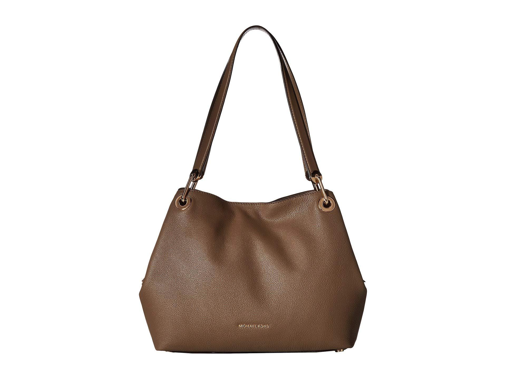 3a4a30784b210f MICHAEL Michael Kors Raven Large Shoulder Tote in Brown - Save 21 ...