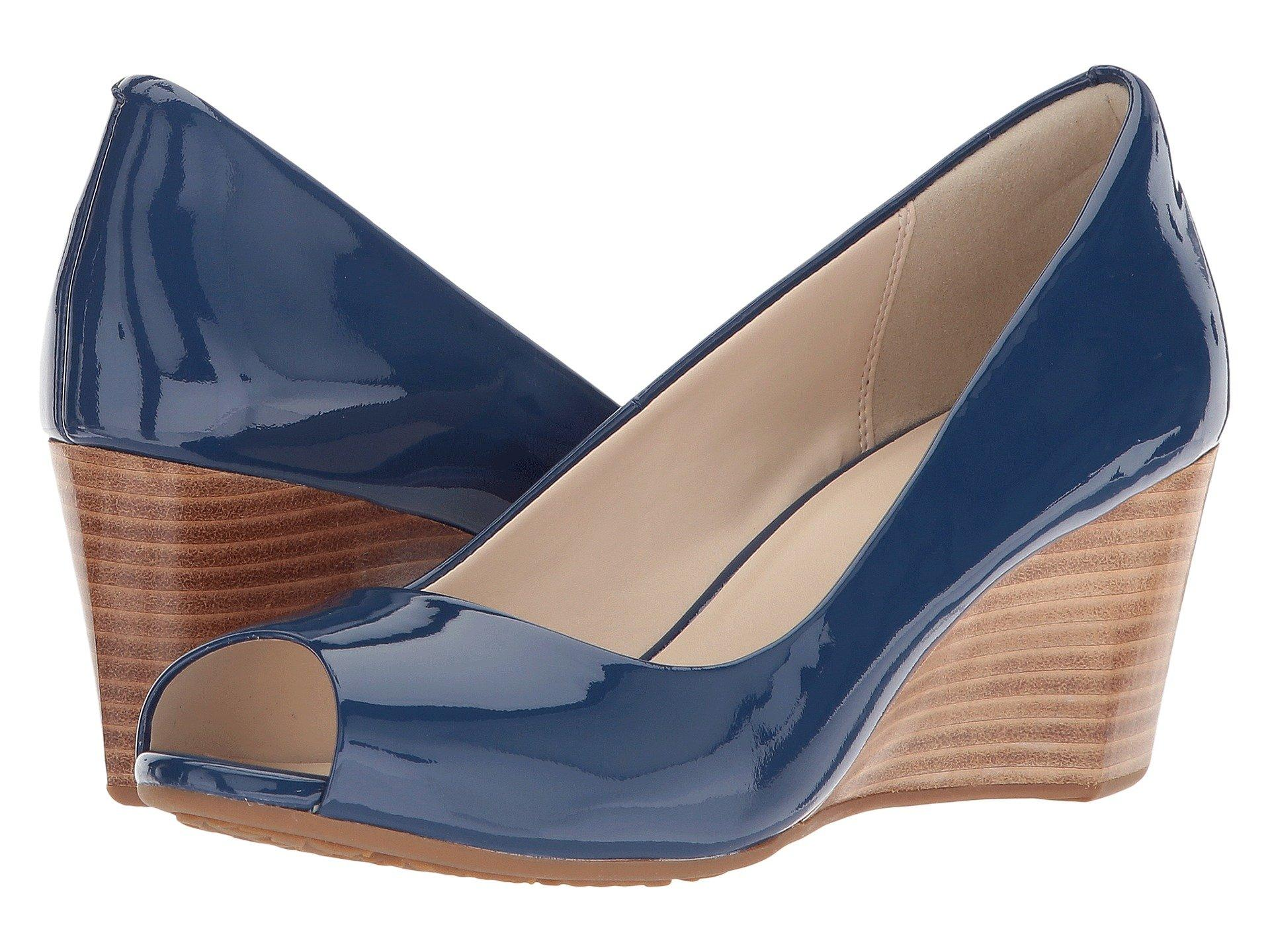 0a3b1f17d70 Lyst - Cole Haan Sadie Open Toe Wedge 65mm in Blue - Save 55%