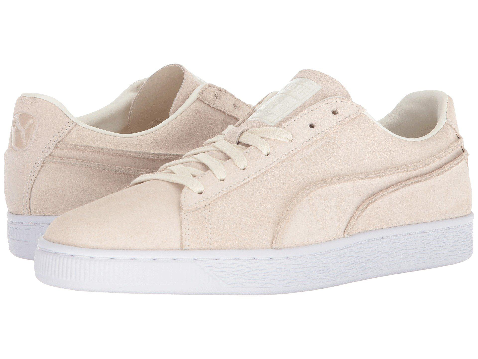 Puma Men's Classic Exposed Seams Suede Lace Up Sneakers WW9Wc
