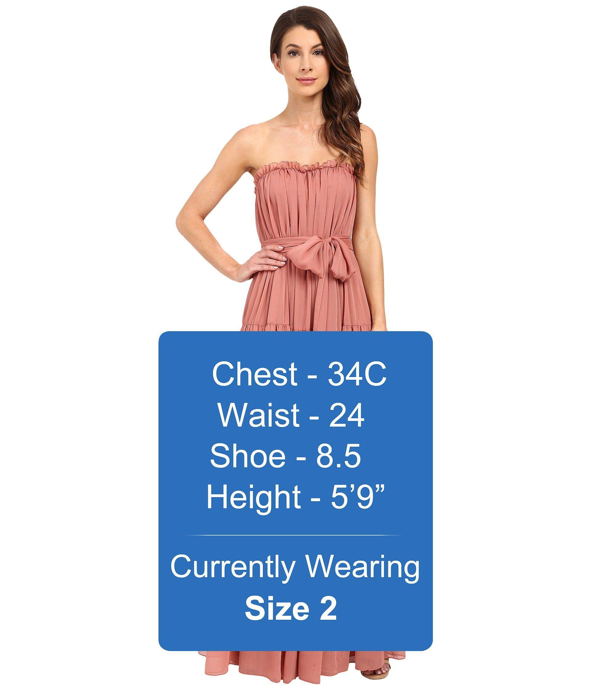 152a953ff8f7d JILL Jill Stuart Strapless Crinkle Chiffon Gown W/ Tie At Waist in ...