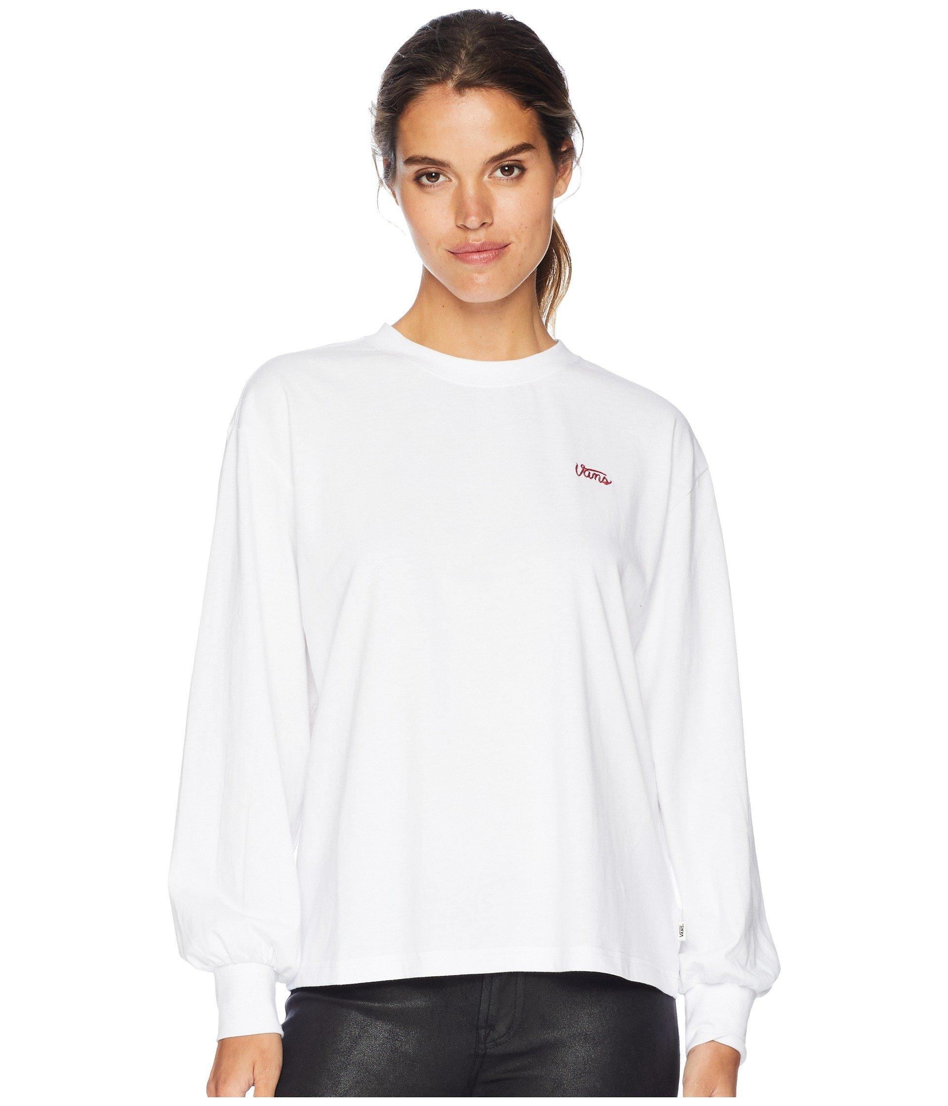 c715f1f6592e70 Lyst - Vans Lorraine Long Sleeve Top in White