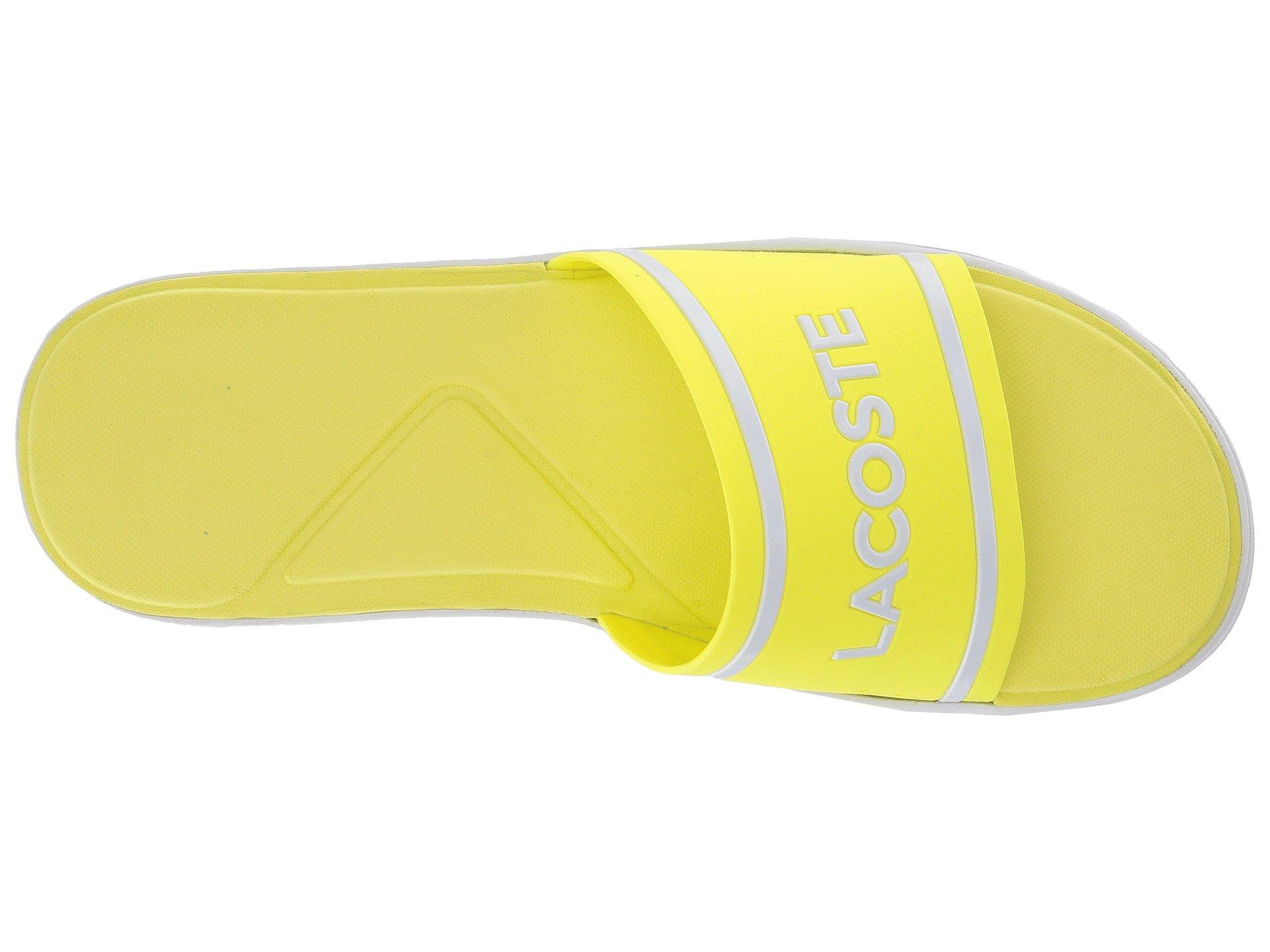 d23e8254786d2e Lyst - Lacoste L.30 Slide 218 1 in Yellow for Men