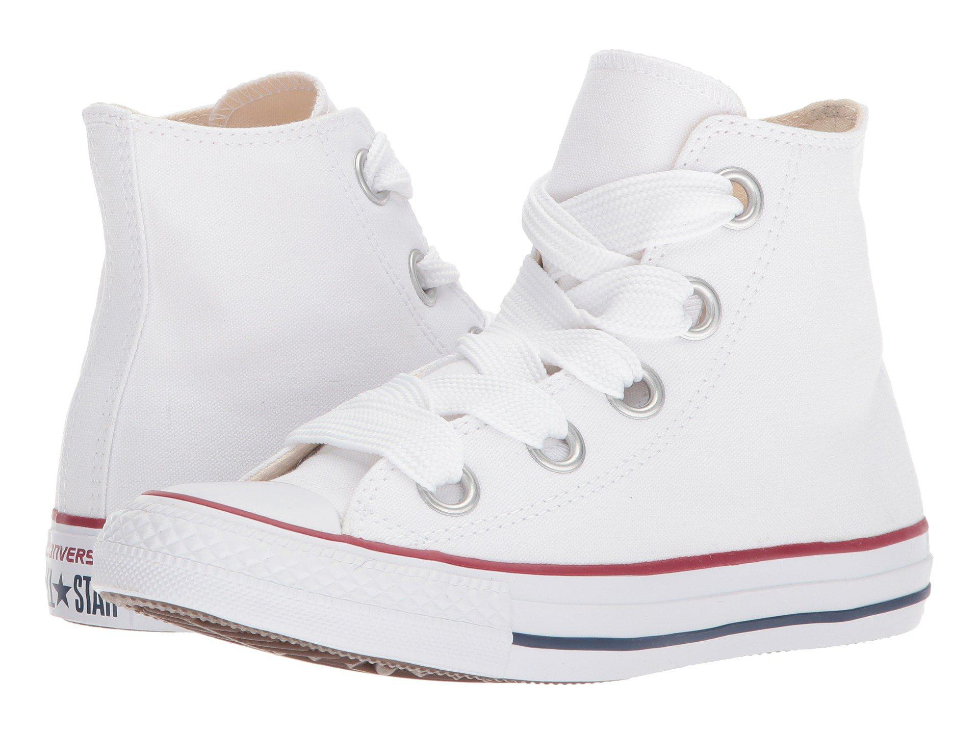 ed491b4ff7ef Lyst - Converse Chuck Taylor® All Star Canvas Big Eyelets Hi in White