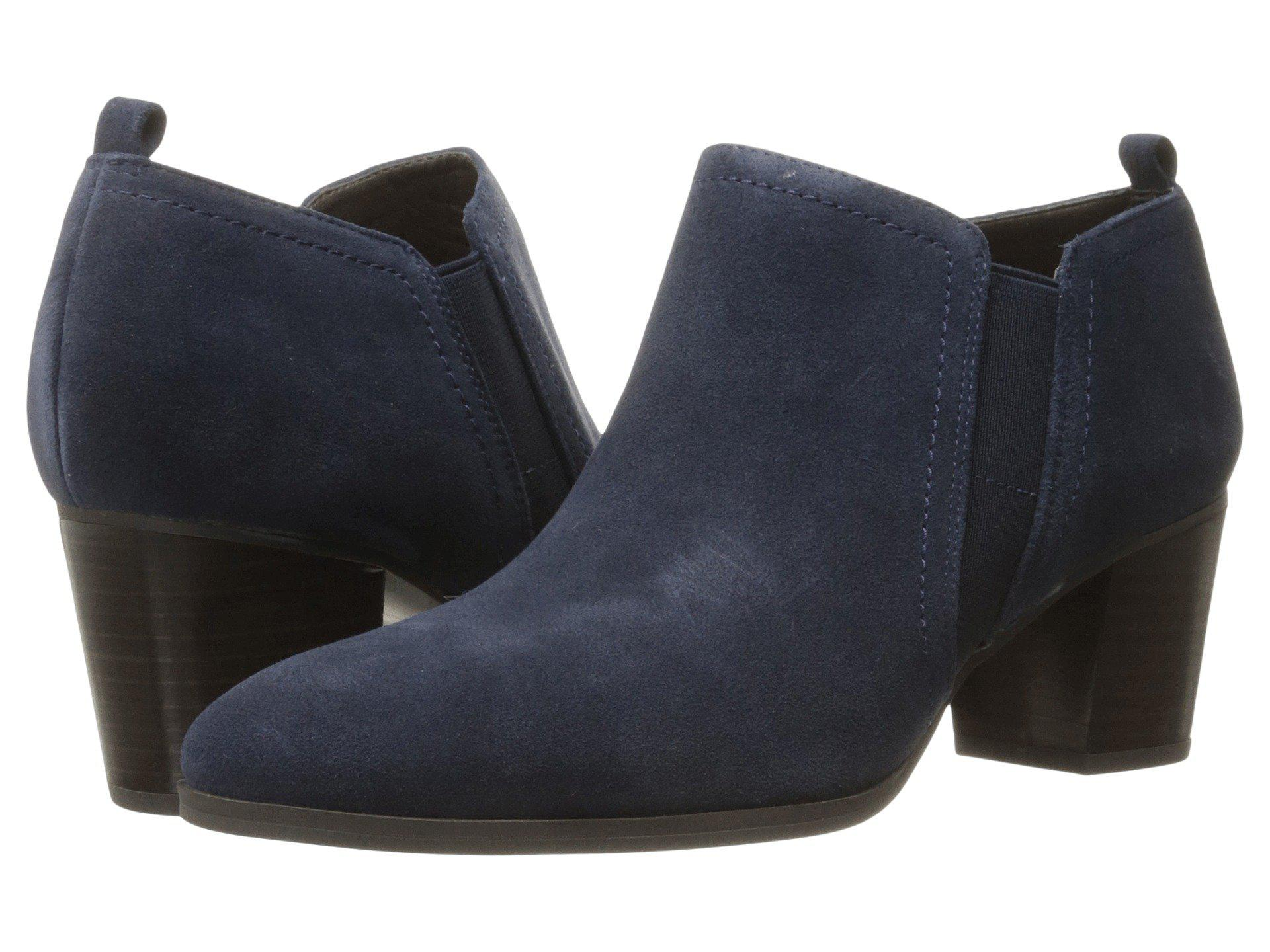 Franco Sarto Banner Twilight Navy Velour Suede Women