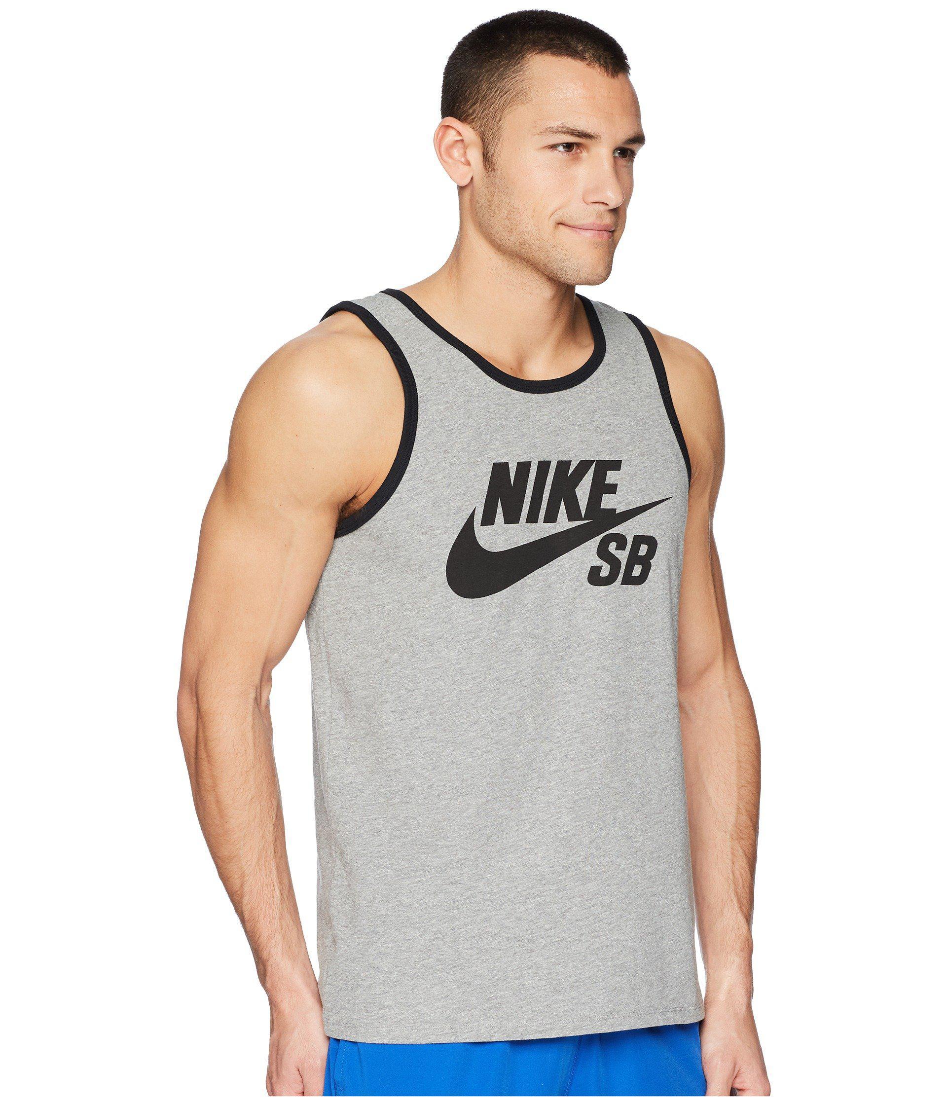 c700b14a2222b3 Lyst - Nike Sb Tank Top Ringer in Gray for Men