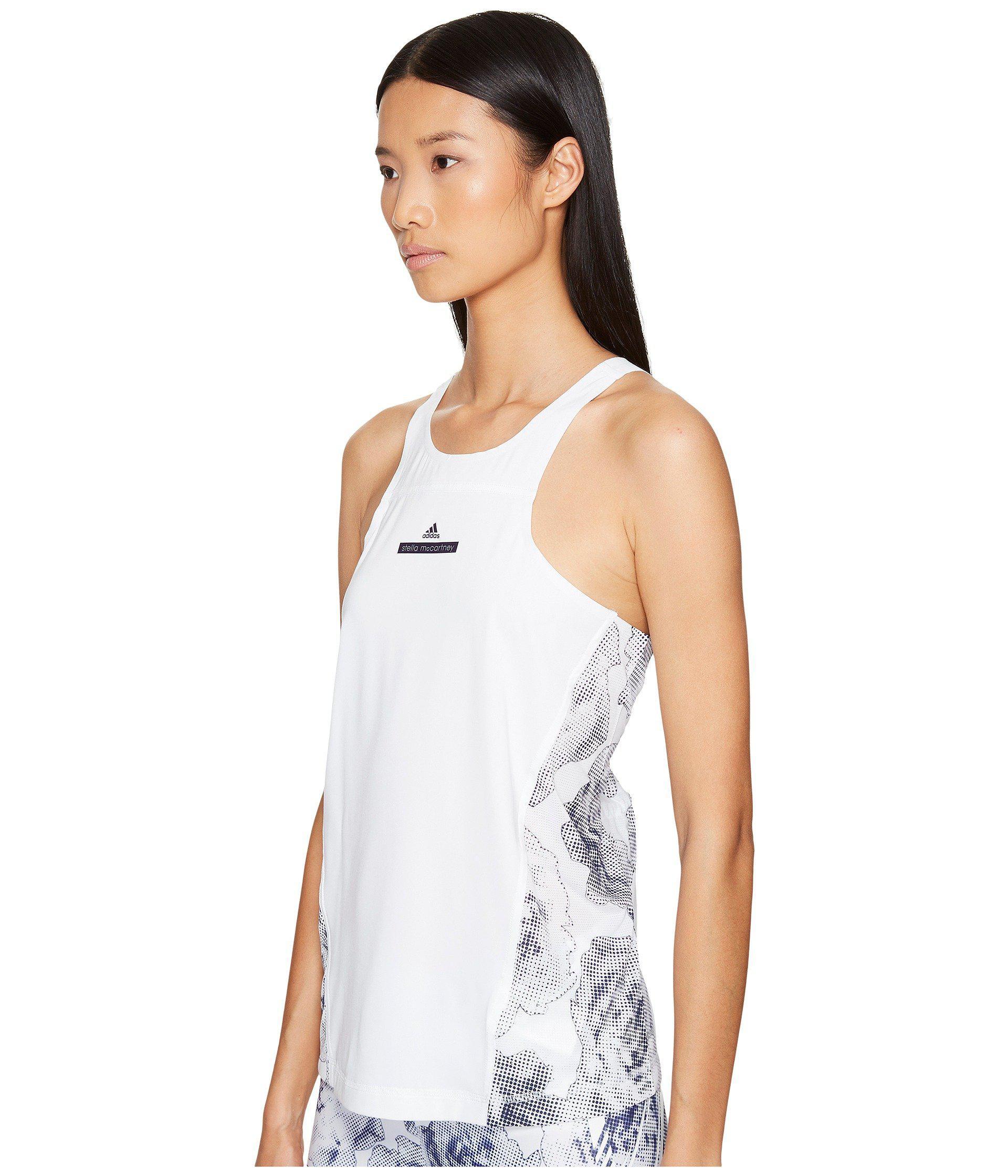 0809cf9f9f676 Lyst - adidas By Stella McCartney White Run Adizero Tank in White - Save 51%