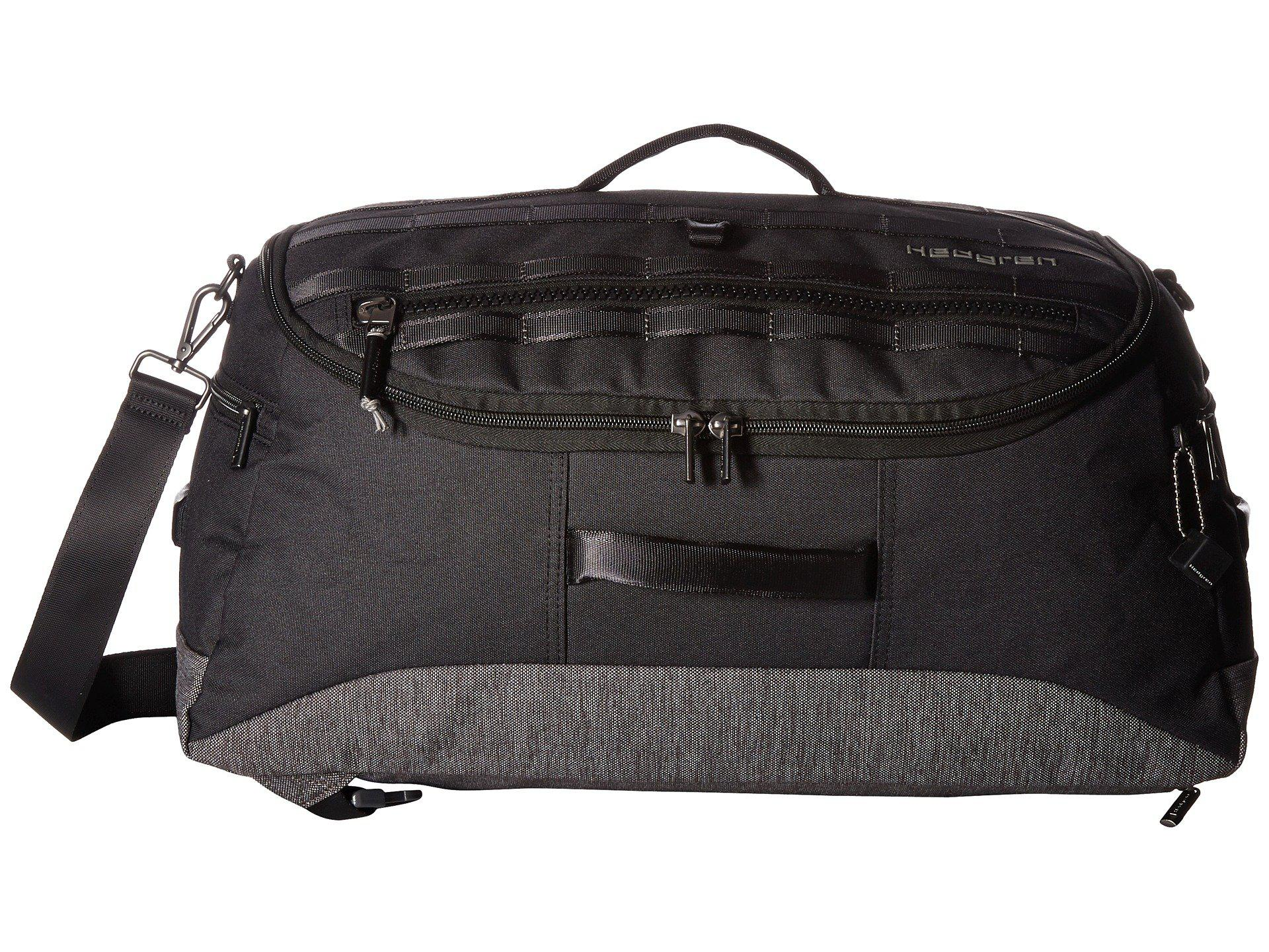 4ee1e4839a Hedgren Knock Out Floyd Three-way Duffel in Black for Men - Lyst
