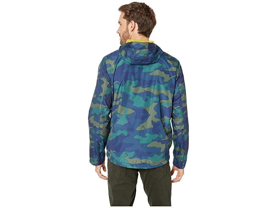 Nautica Mens Printed Lightweight Windbreaker Parka Jacket
