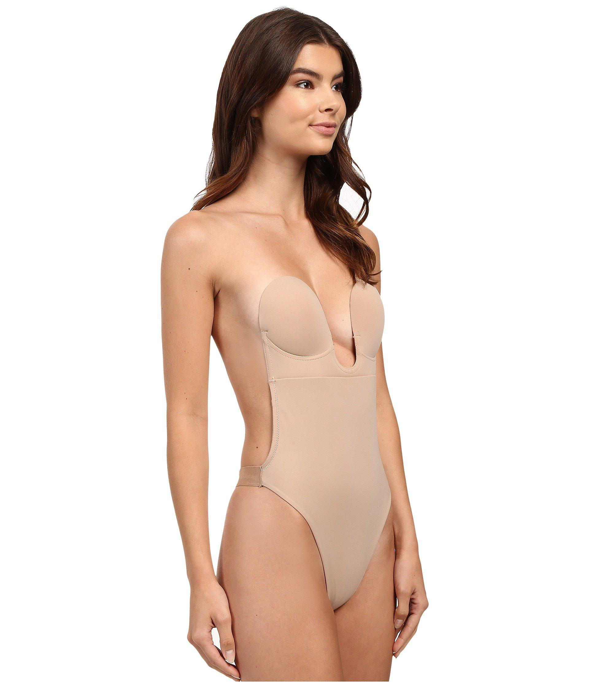 5367864d2 Fashion Forms U Plunge Backless Strapless Bodysuit in Natural - Lyst