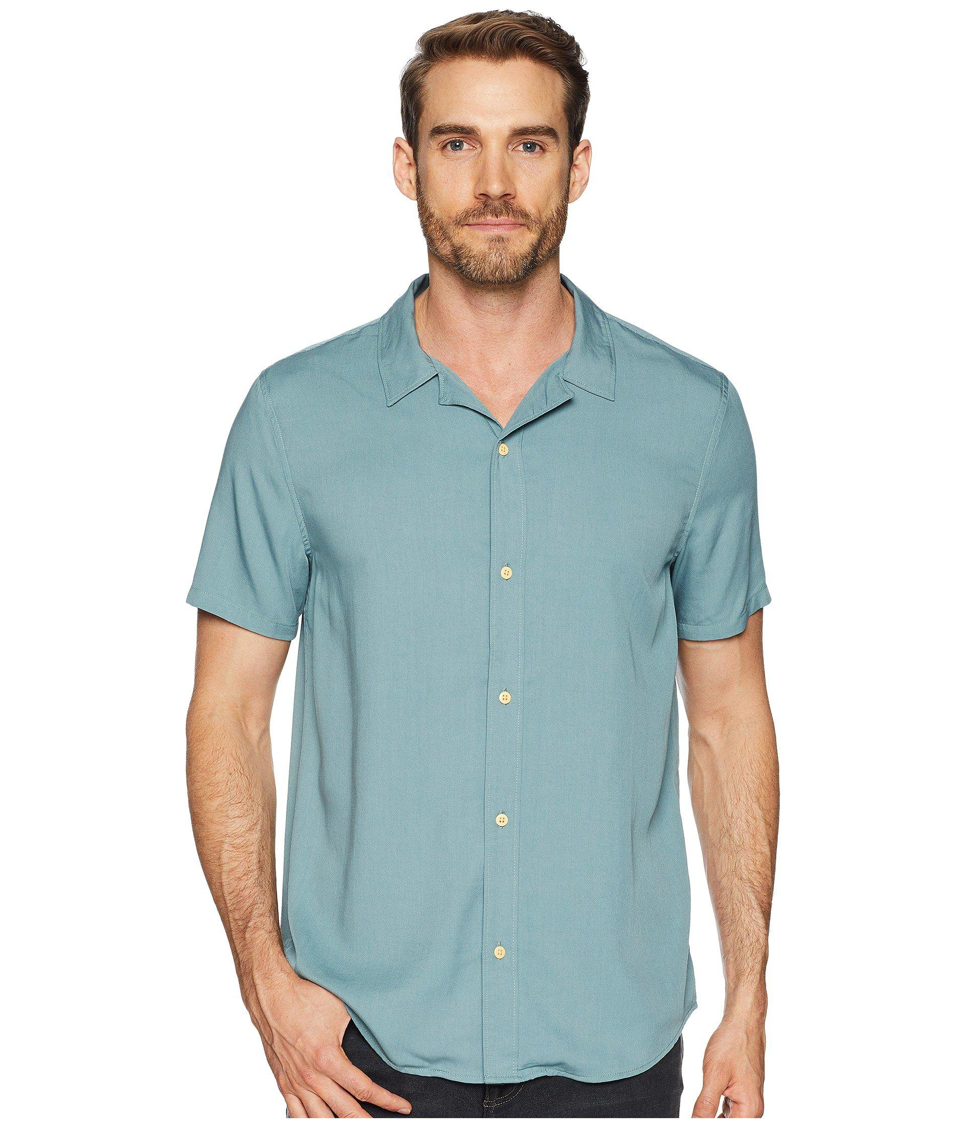 445d887660 Lyst - Threads For Thought Modal Short Sleeve Beach Shirt in Green ...
