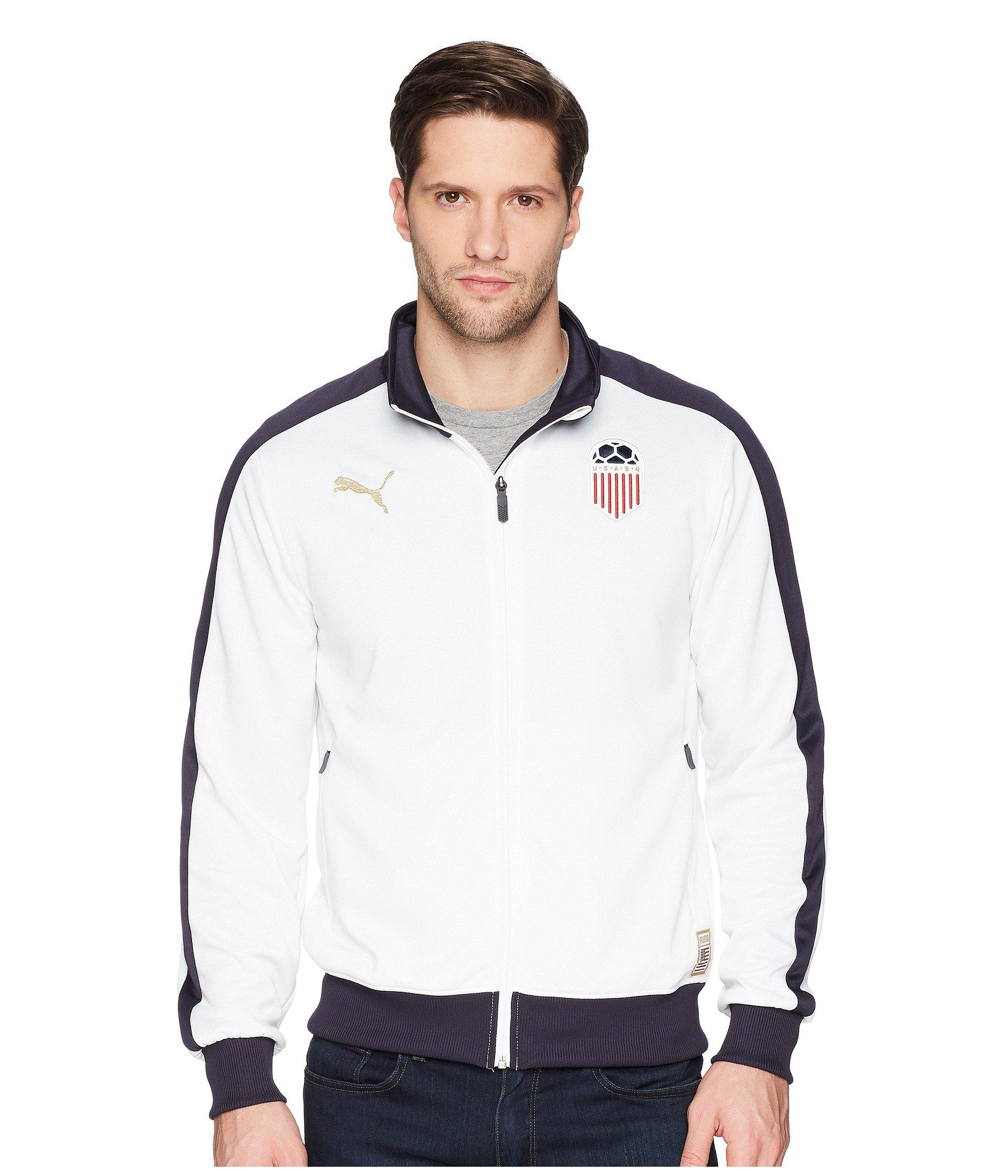77209a28f PUMA Forever Football T7 Track Jacket in White for Men - Lyst