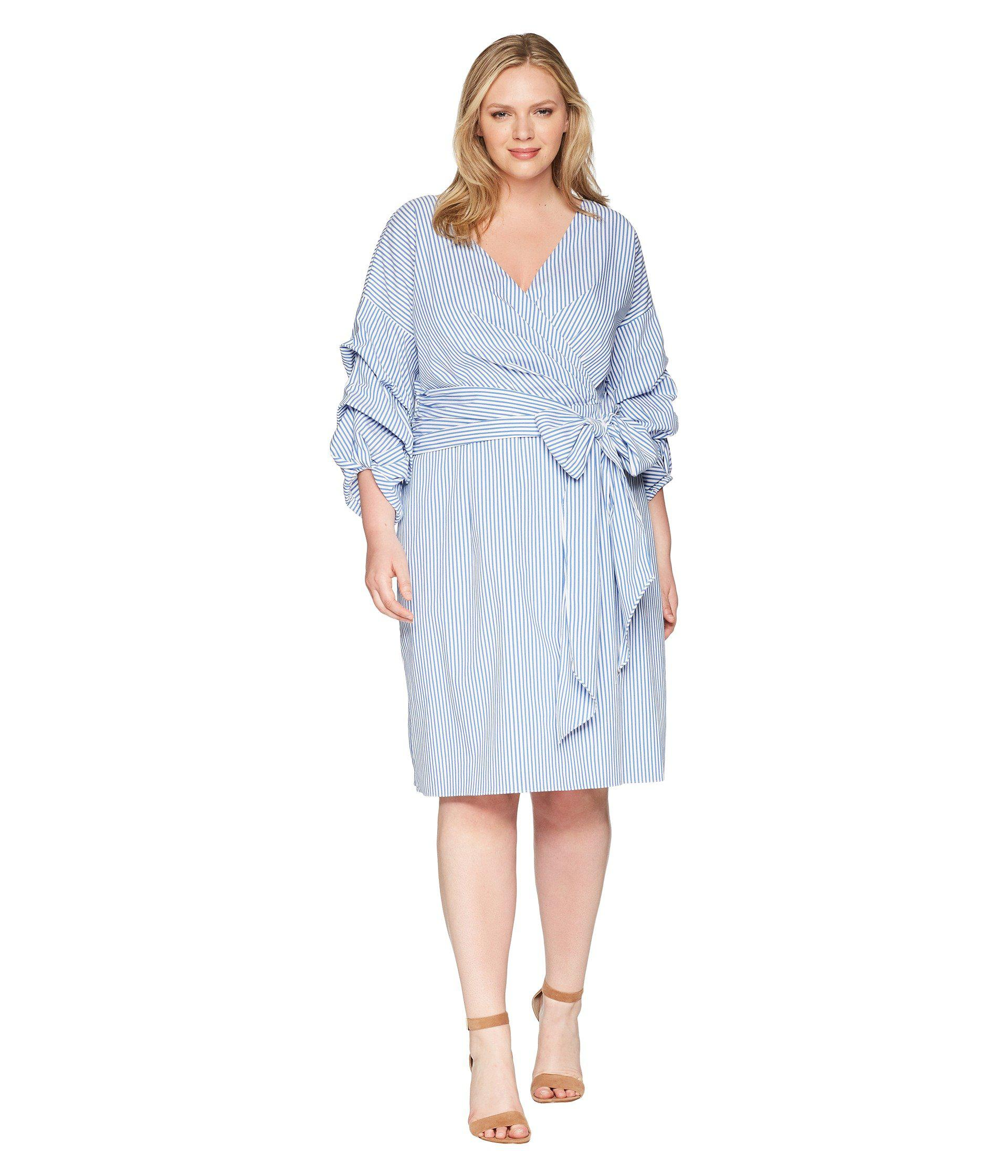 c41607ca32c Lyst - Adrianna Papell Plus Size Short Wrap Dress Long Sleeves in ...