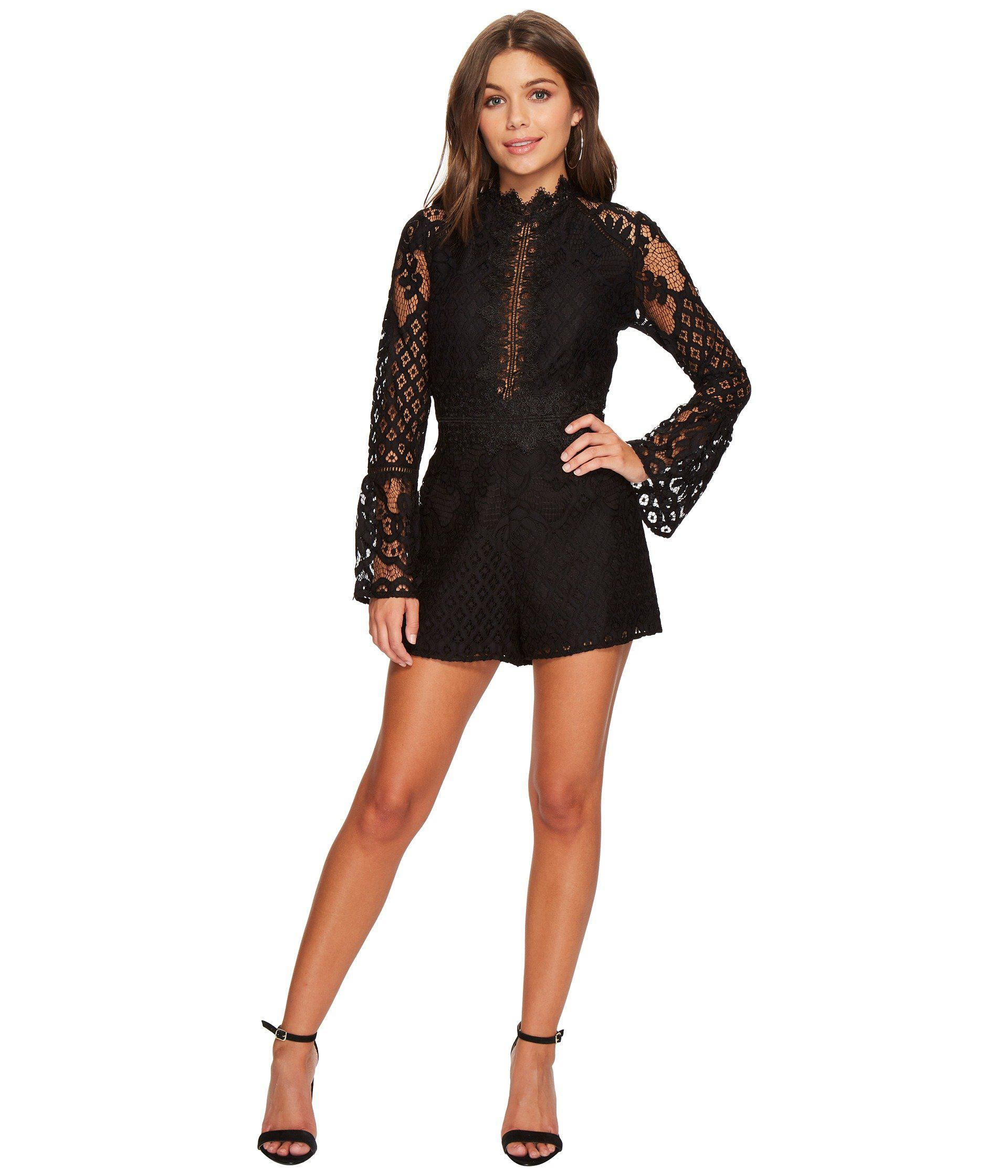 efa51f800ae Lyst - Adelyn Rae Lena Romper in Black