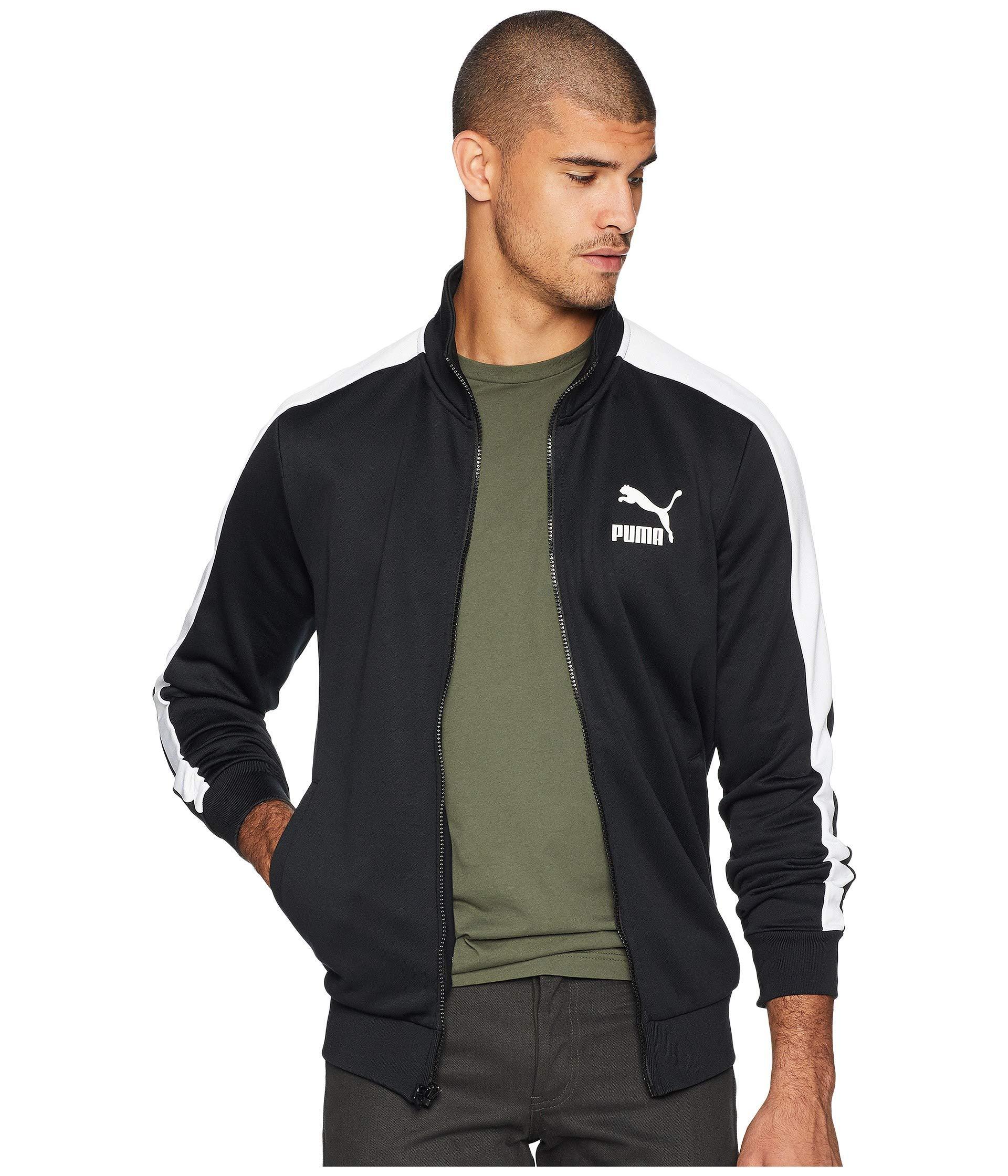 4a7506000c37 PUMA - Black Classics T7 Track Jacket for Men - Lyst. View fullscreen
