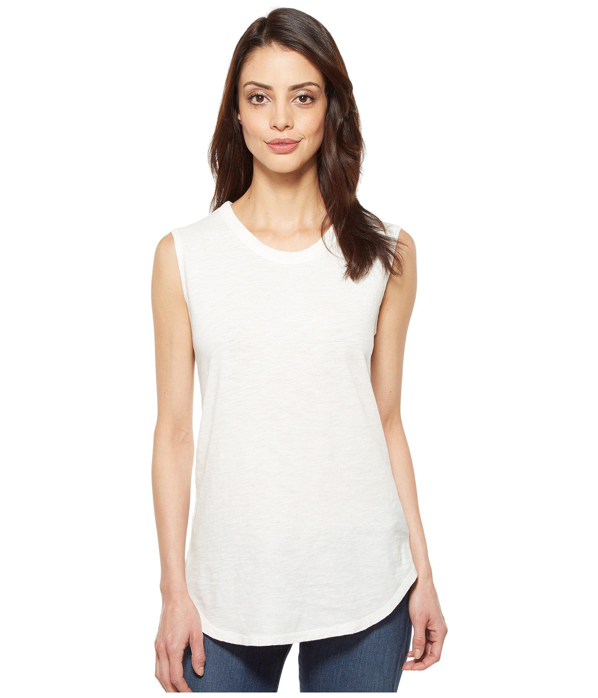 d5b7e41e78064e Alternative Apparel. Women s White Inside Out Slub Sleeveless T-shirt