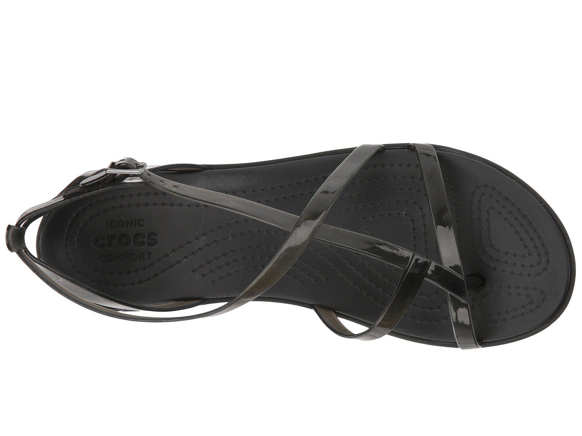 Lyst - Crocs™ Isabella Gladiator Sandal in Black - Save 9% ba21e306f
