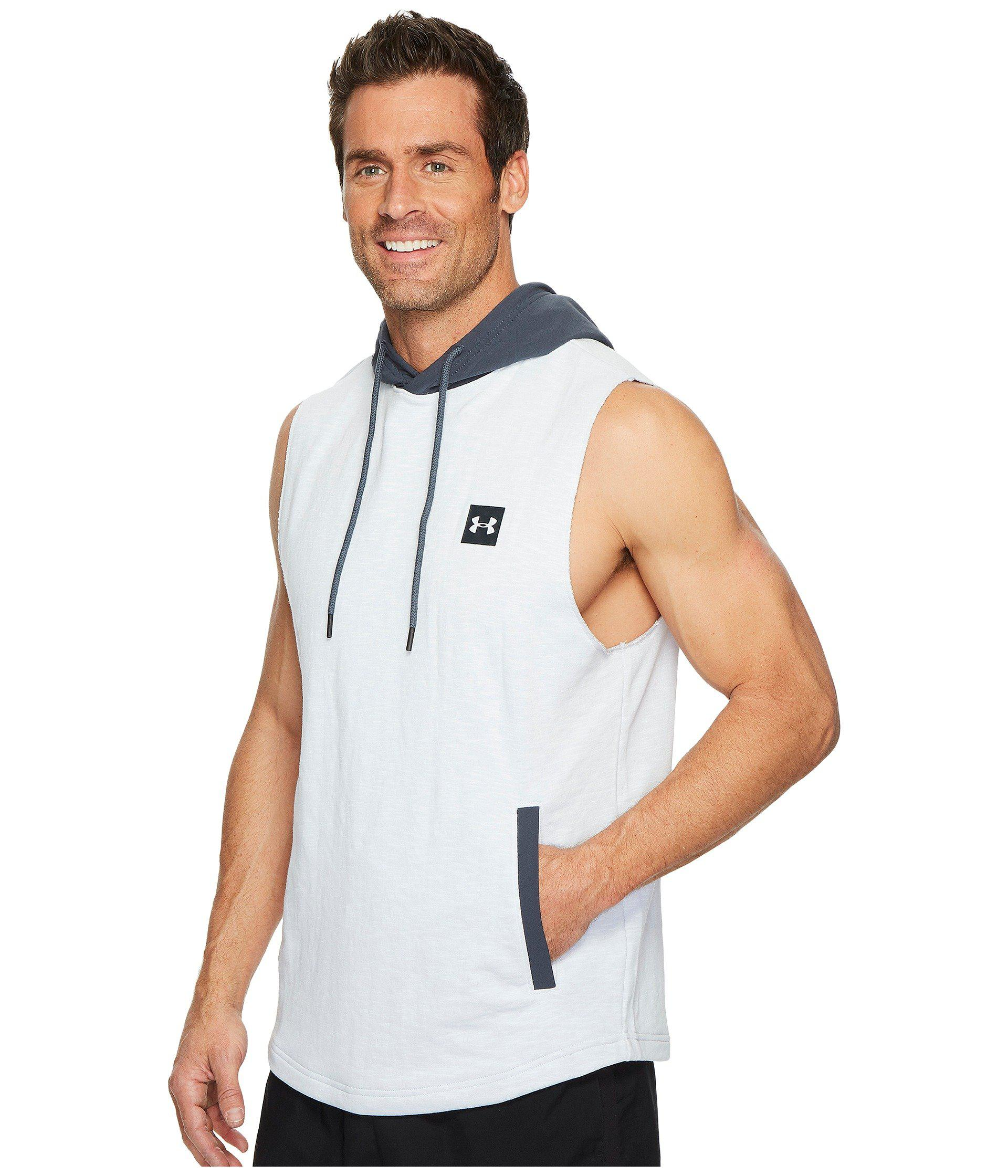 Under Armour Mens Sportstyle sleeveleshort Sleeve Hoodie