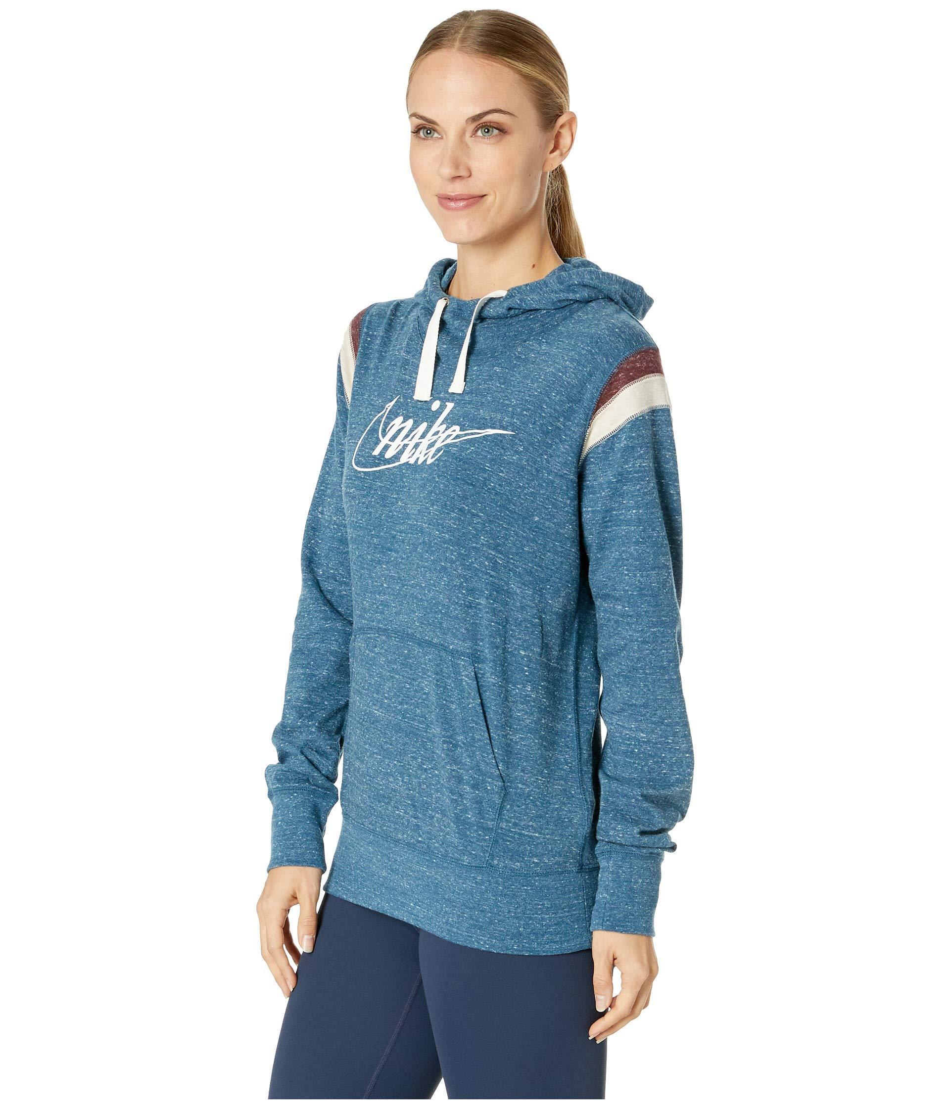 cc27fb679412 Lyst - Nike Gym Vintage Hoodie Pullover Hbr in Blue - Save 13%