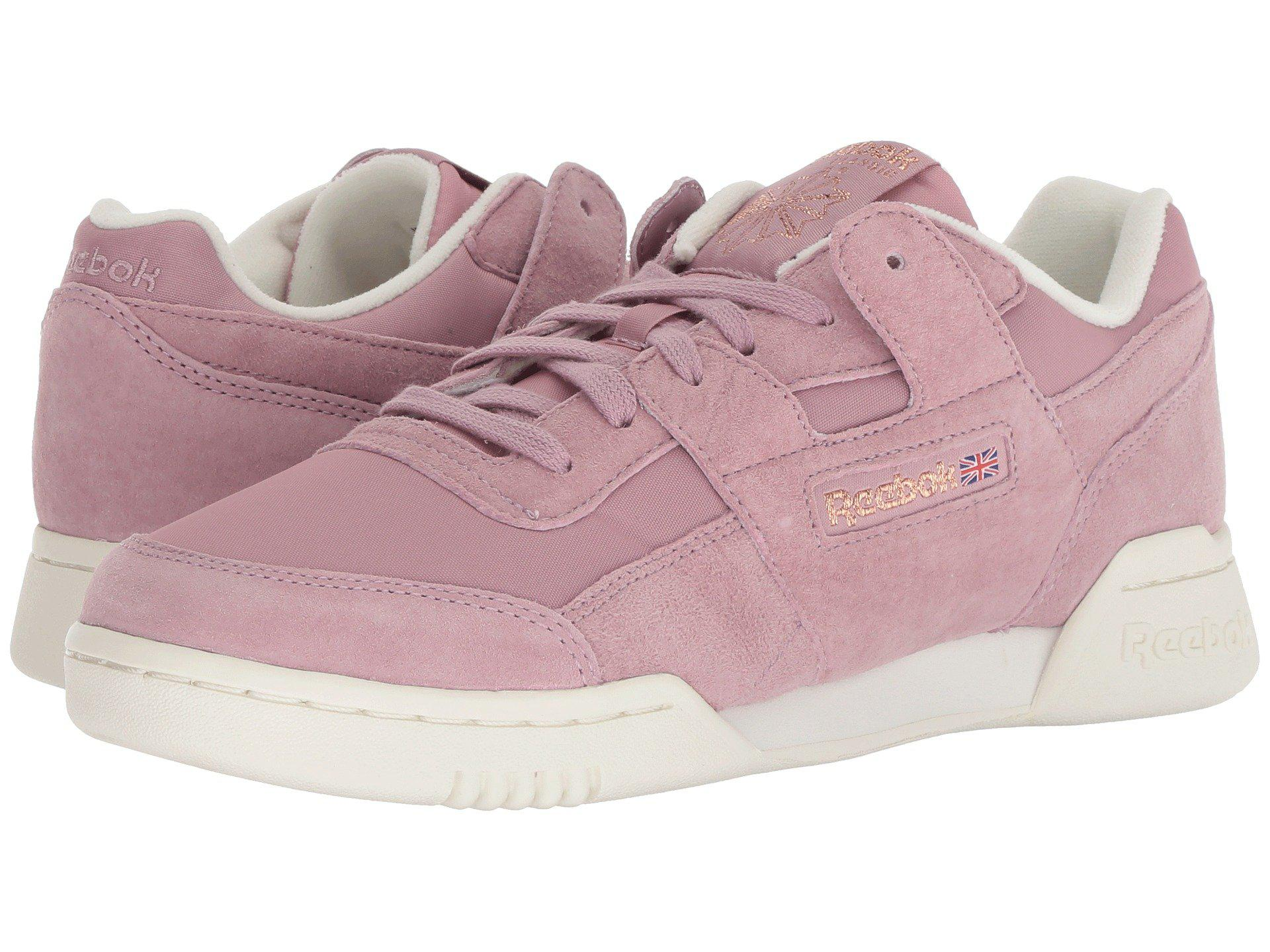 d6c307cdd1bc1 Lyst - Reebok Workout Lo Plus in Pink