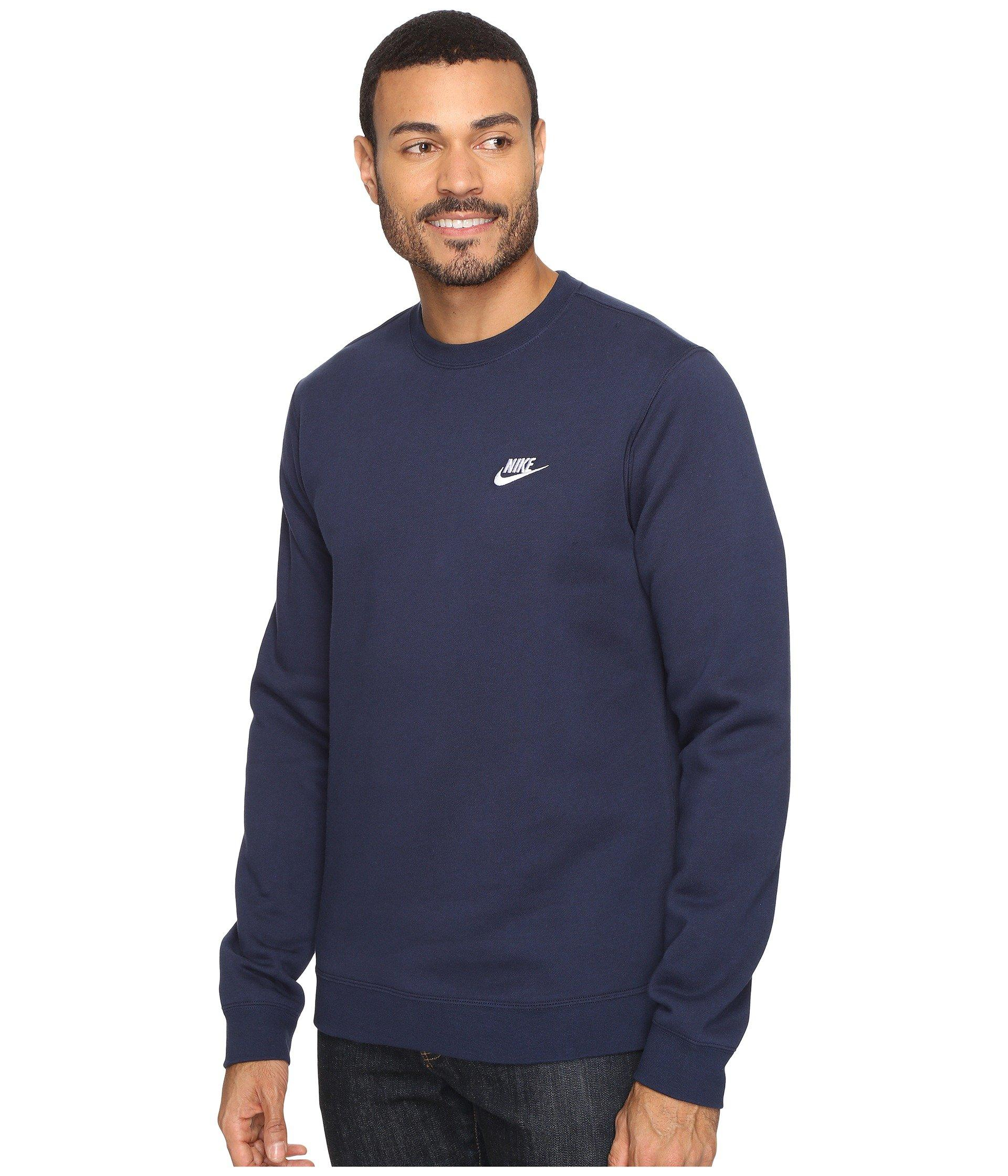 9acf74707f31 Lyst - Nike Club Fleece Pullover Crew in Blue for Men - Save 22%