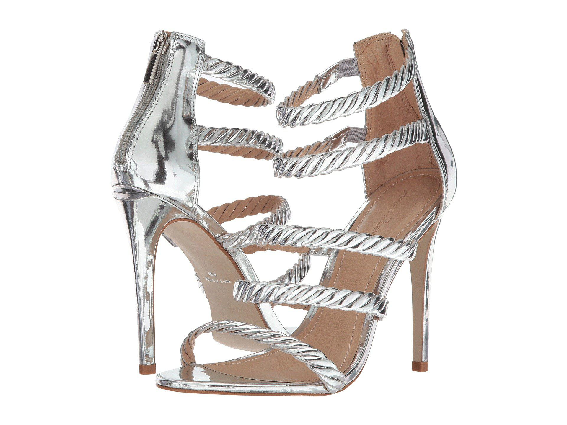 05304d6a82 Lyst - Massimo Matteo 5-strap Open Toe in Metallic - Save 45%