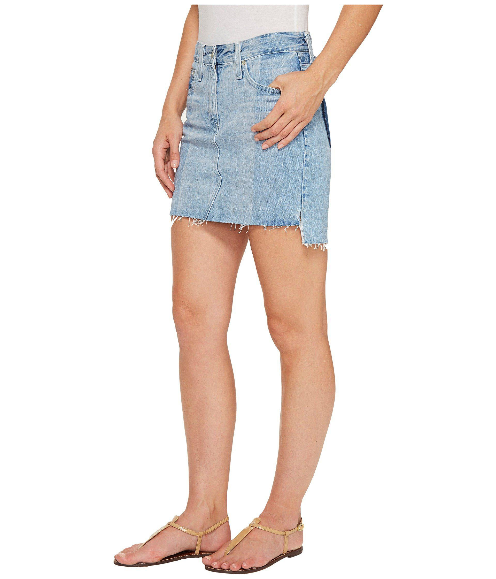 f4493af974f6 Lyst - AG Jeans Sandy Skirt In 19 Years Fracture in Blue