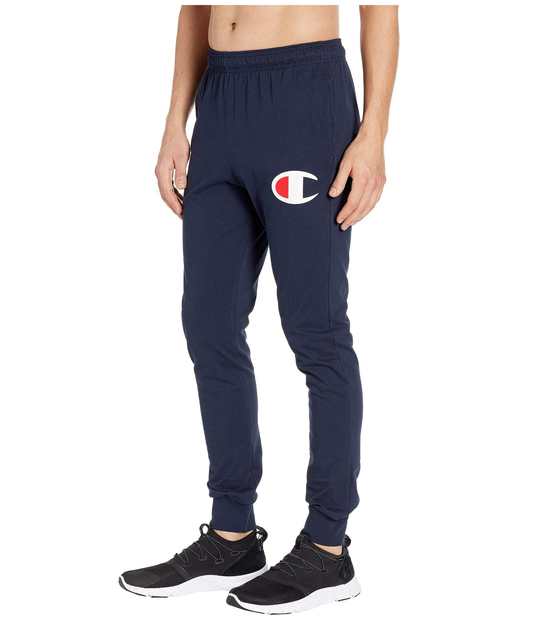 57a8e67ab Lyst - Champion Classic Jersey Graphic Jogger - Y06591 in Blue for Men