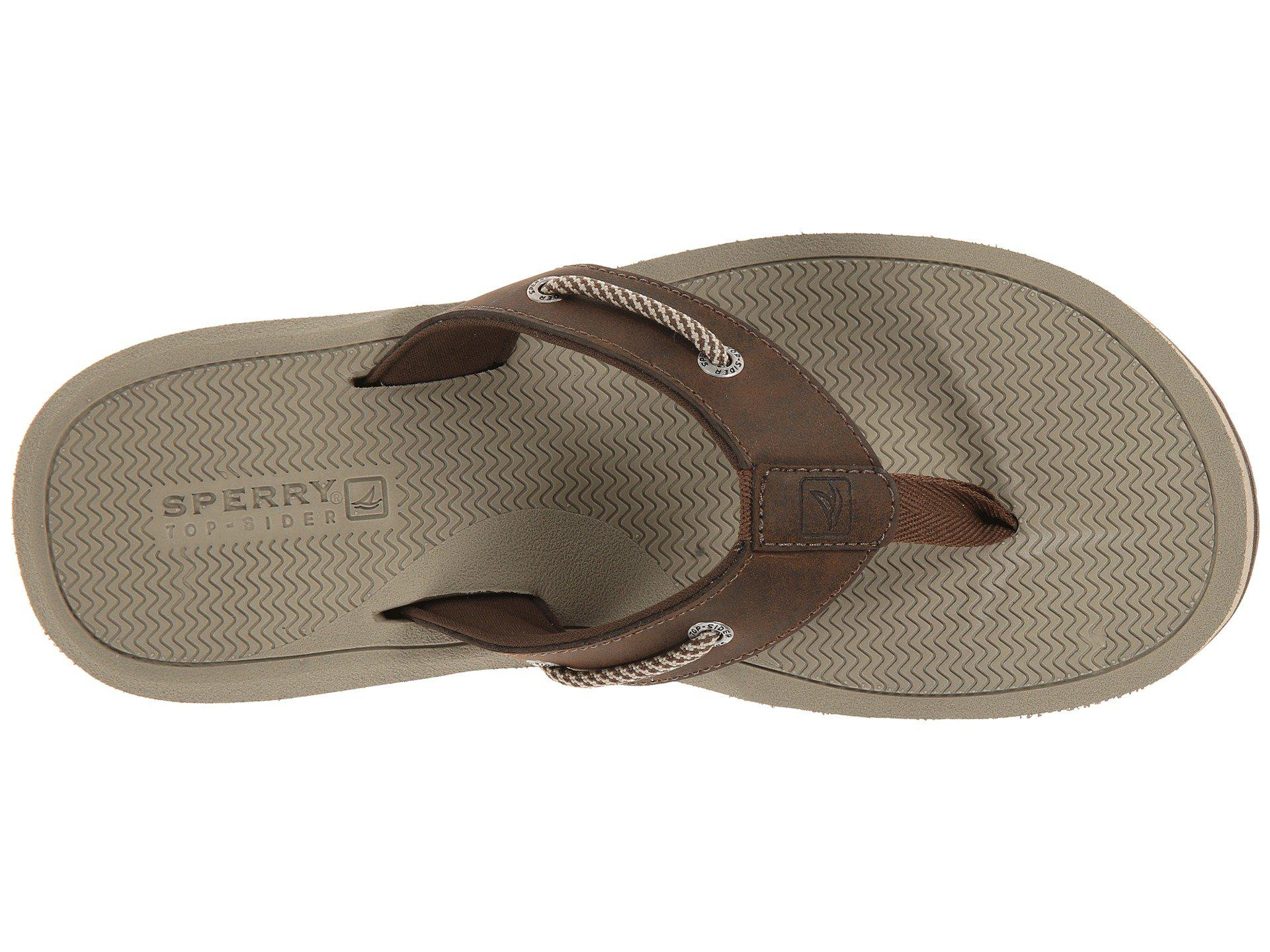 4905ef9f72b2b8 Lyst - Sperry Top-Sider Pensacola Thong in Brown for Men
