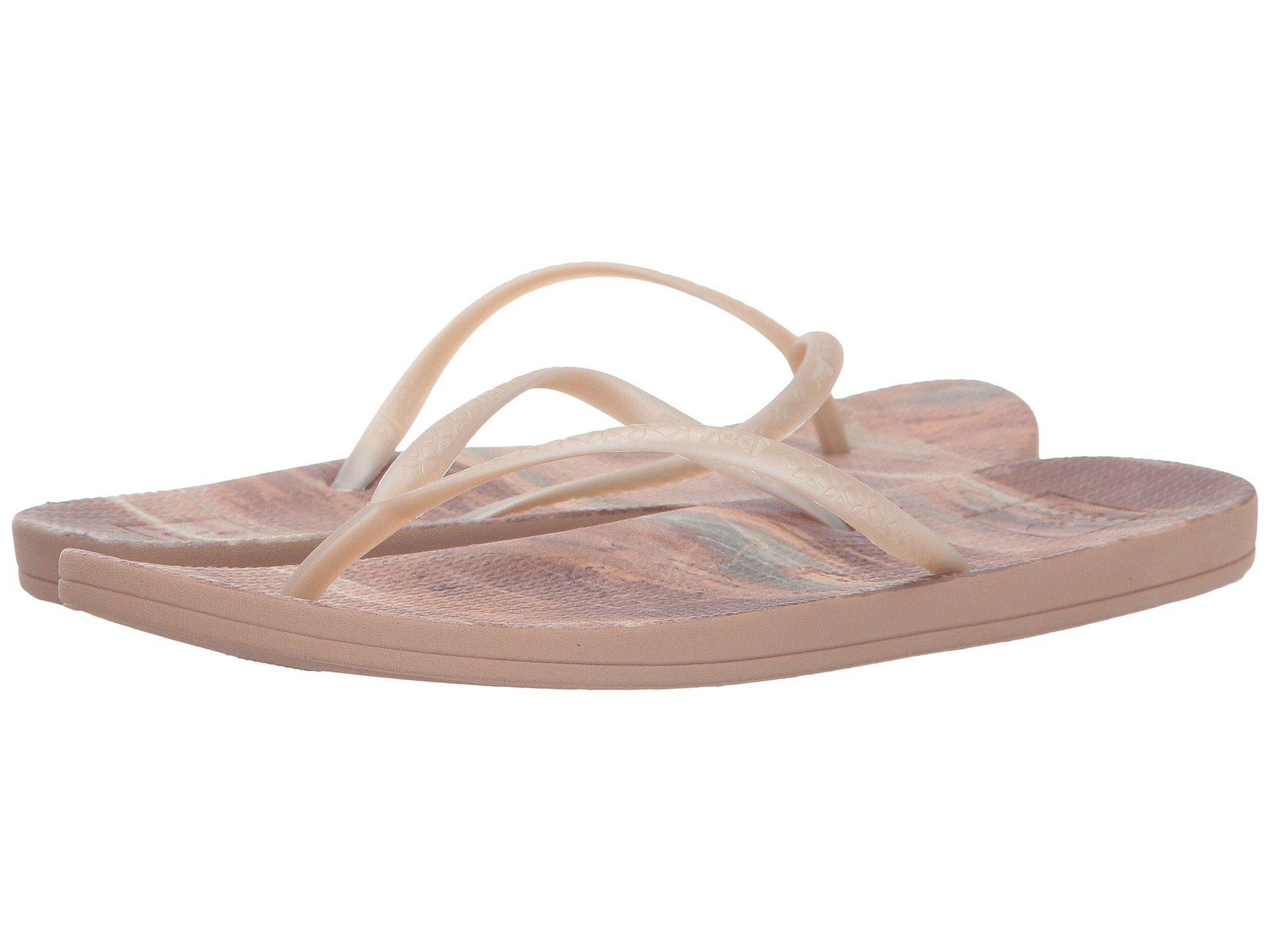 Womens Escape Lux Print Natural Stone Flip Flops Reef