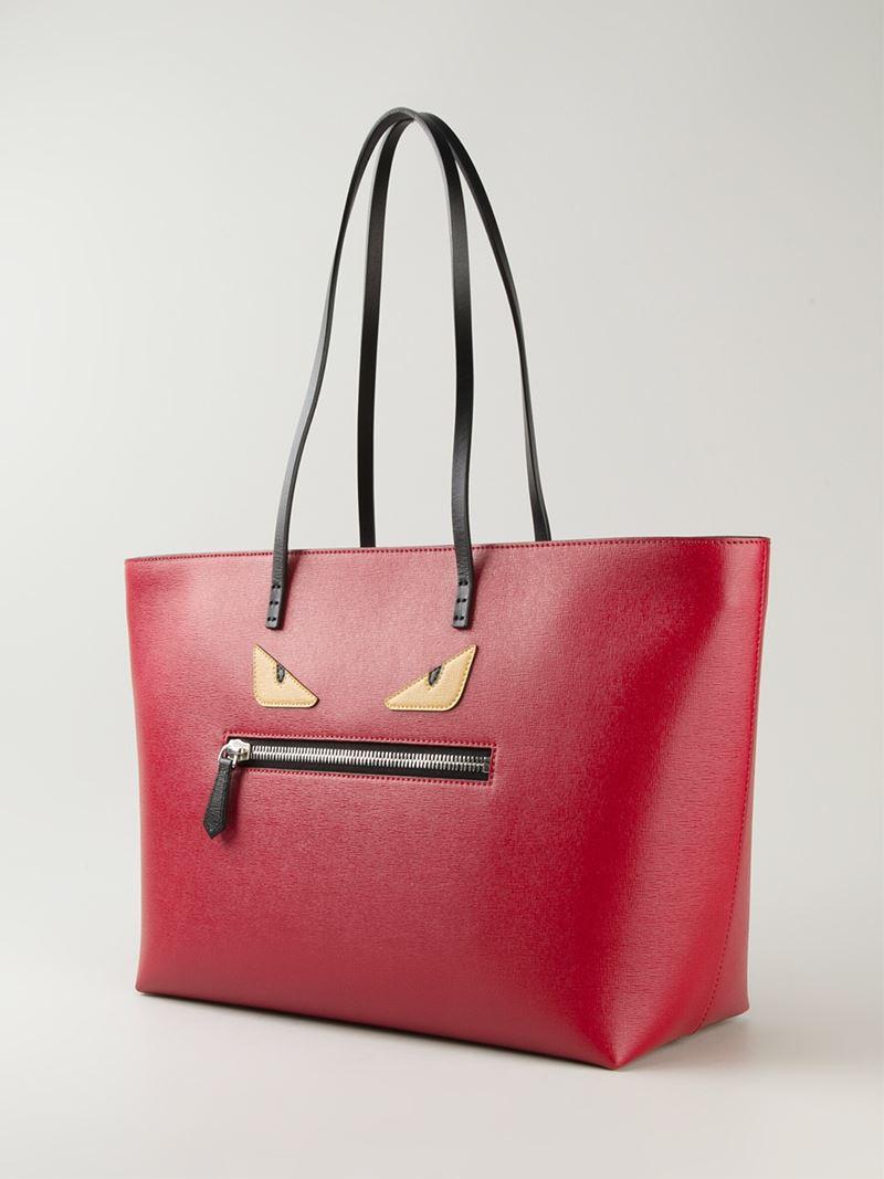 d11f52d45018 Lyst - Fendi Bag Bugs  Roll  Tote Bag in Red
