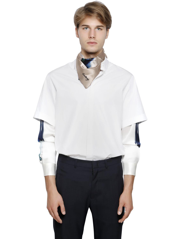 Lyst Iceberg Cotton Poplin Printed Silk Shirt In White