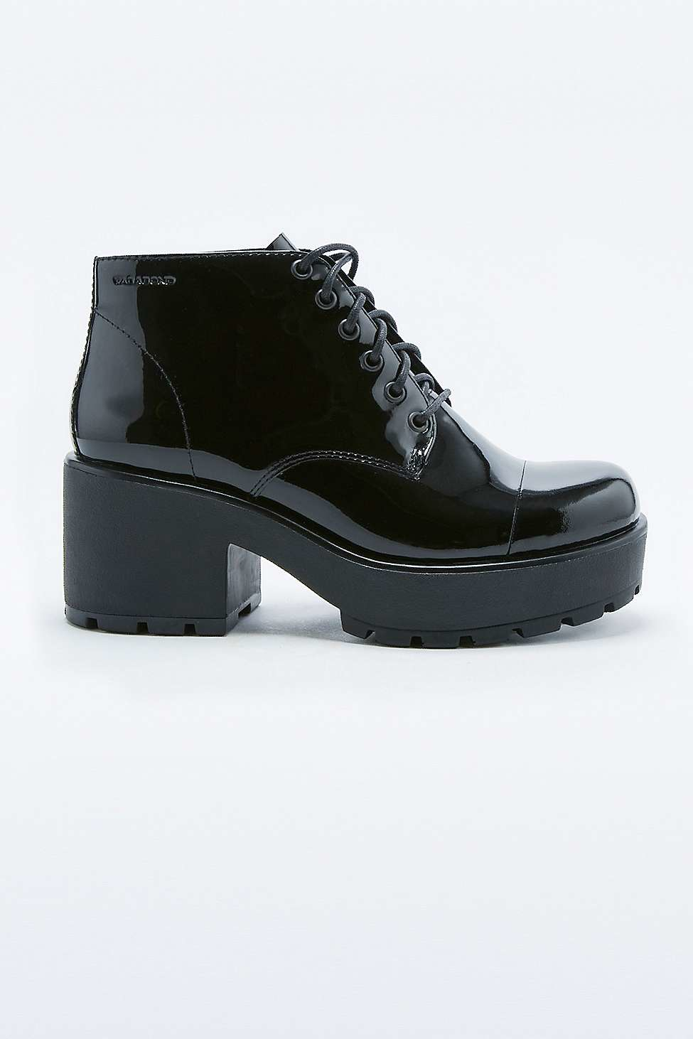 vagabond dioon patent lace up ankle boots in black lyst