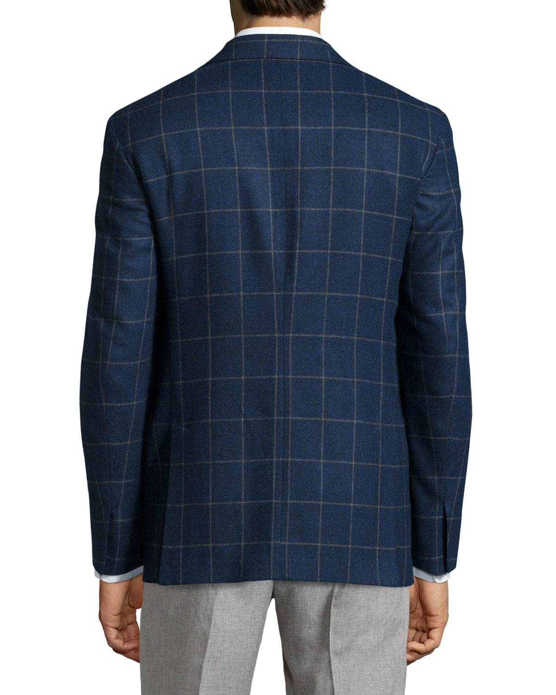 Ike Behar Plaid Sport Coat In Blue For Men Lyst
