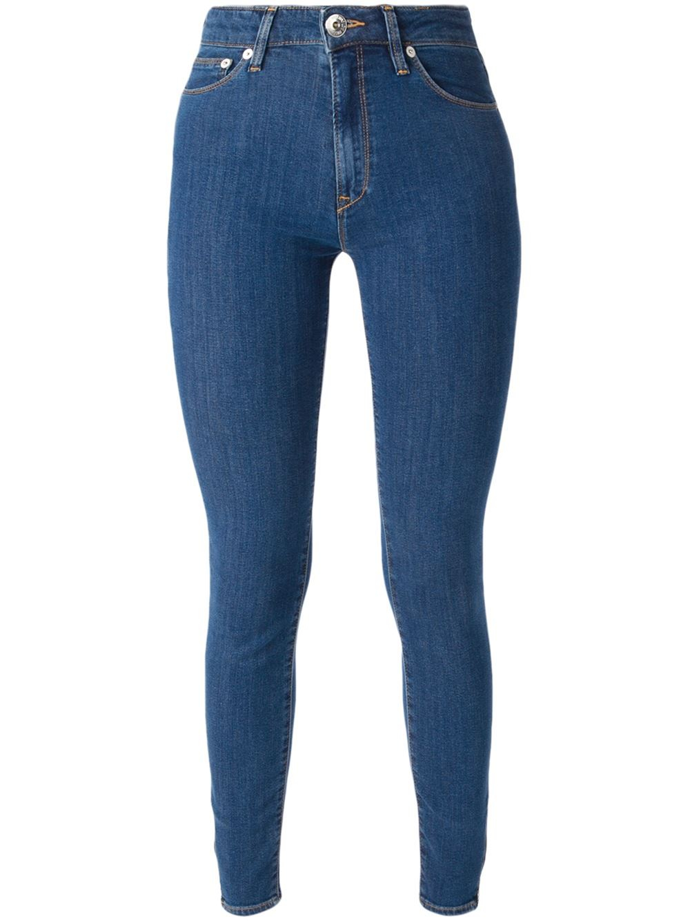 love moschino super skinny jeans in blue save 20 lyst. Black Bedroom Furniture Sets. Home Design Ideas