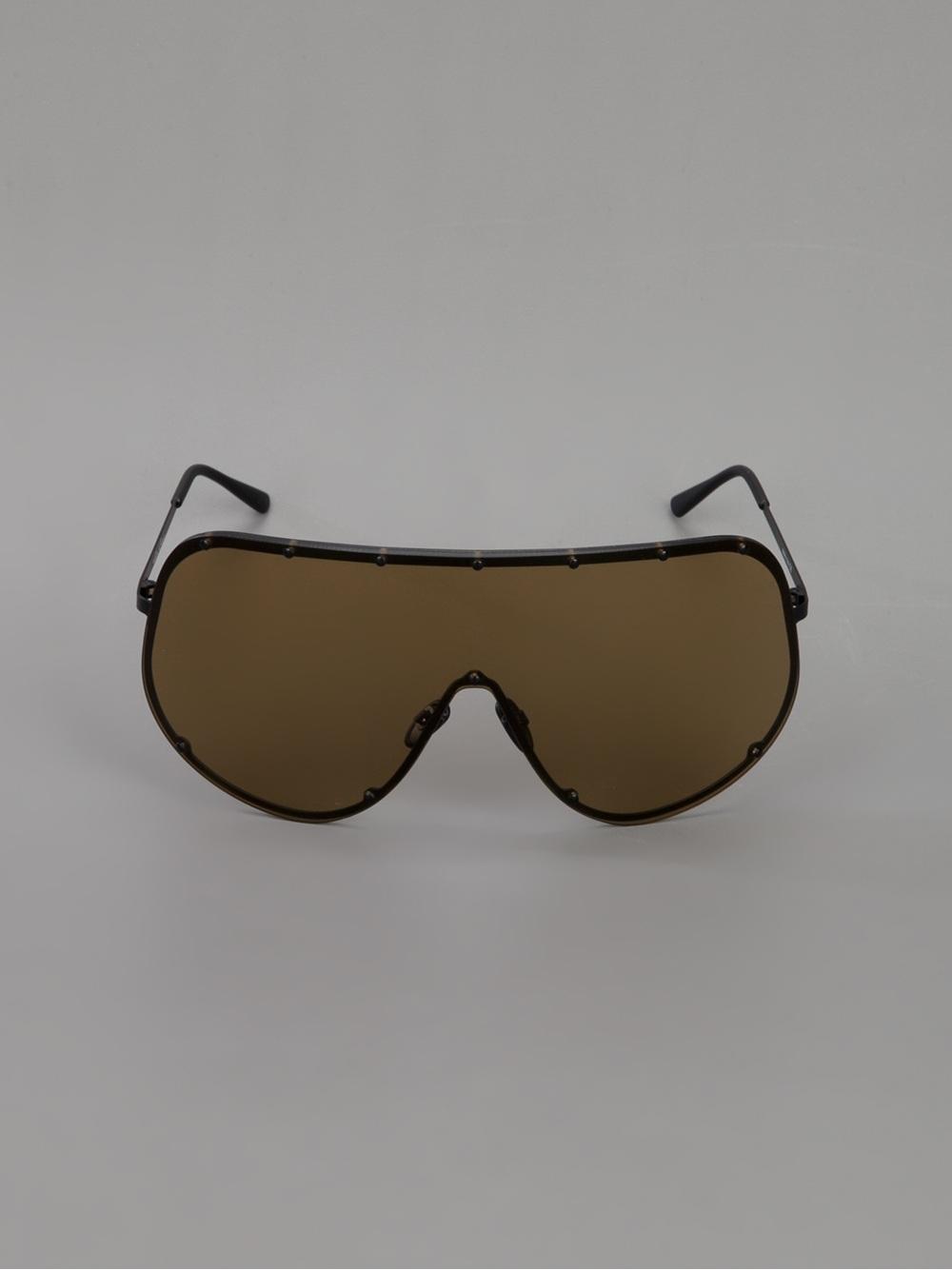 31ec0e21dd5 Rick Owens Oversized Tinted Sunglasses in Black for Men