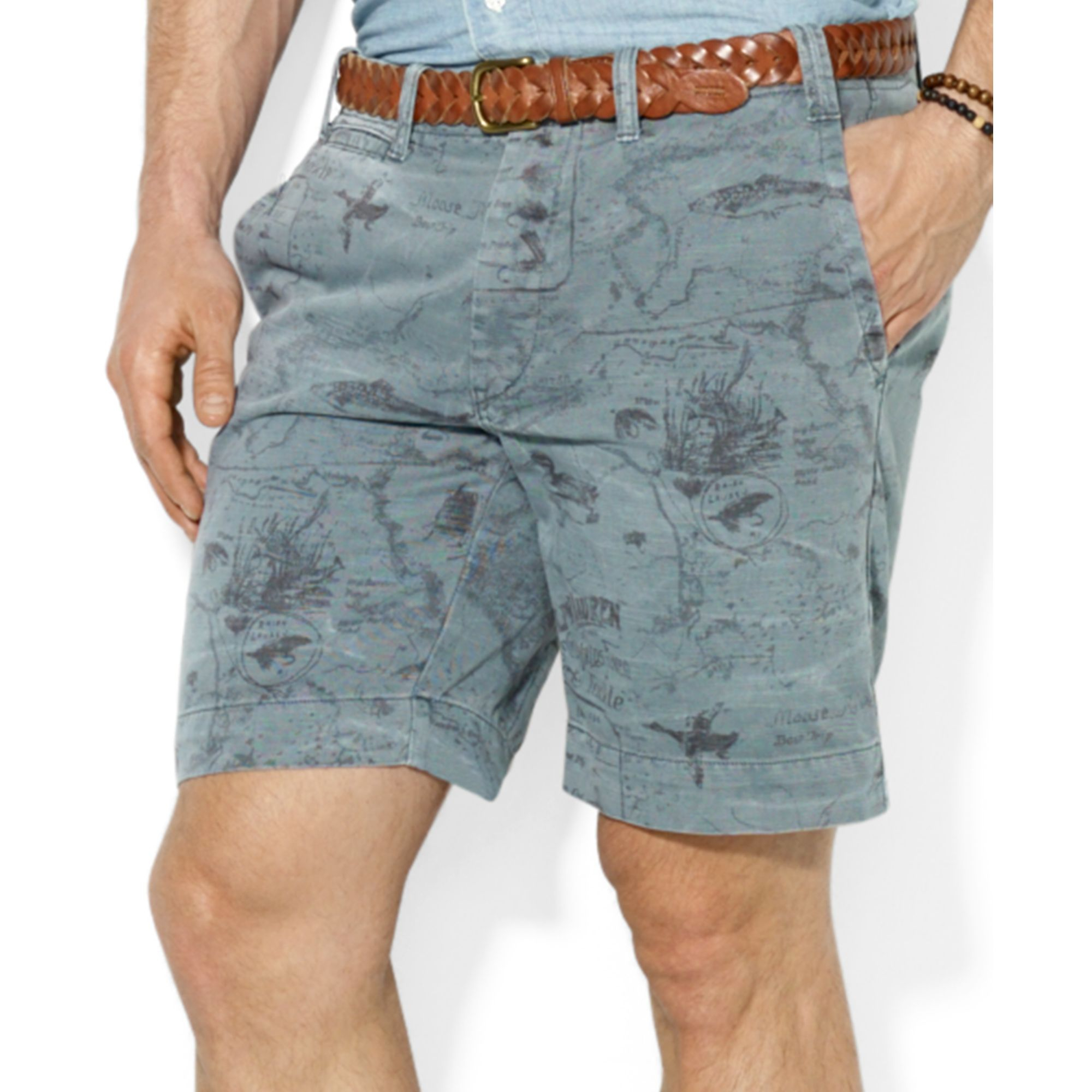 Polo ralph lauren Polo Straightfit Maritime Printed Shorts in Blue ...